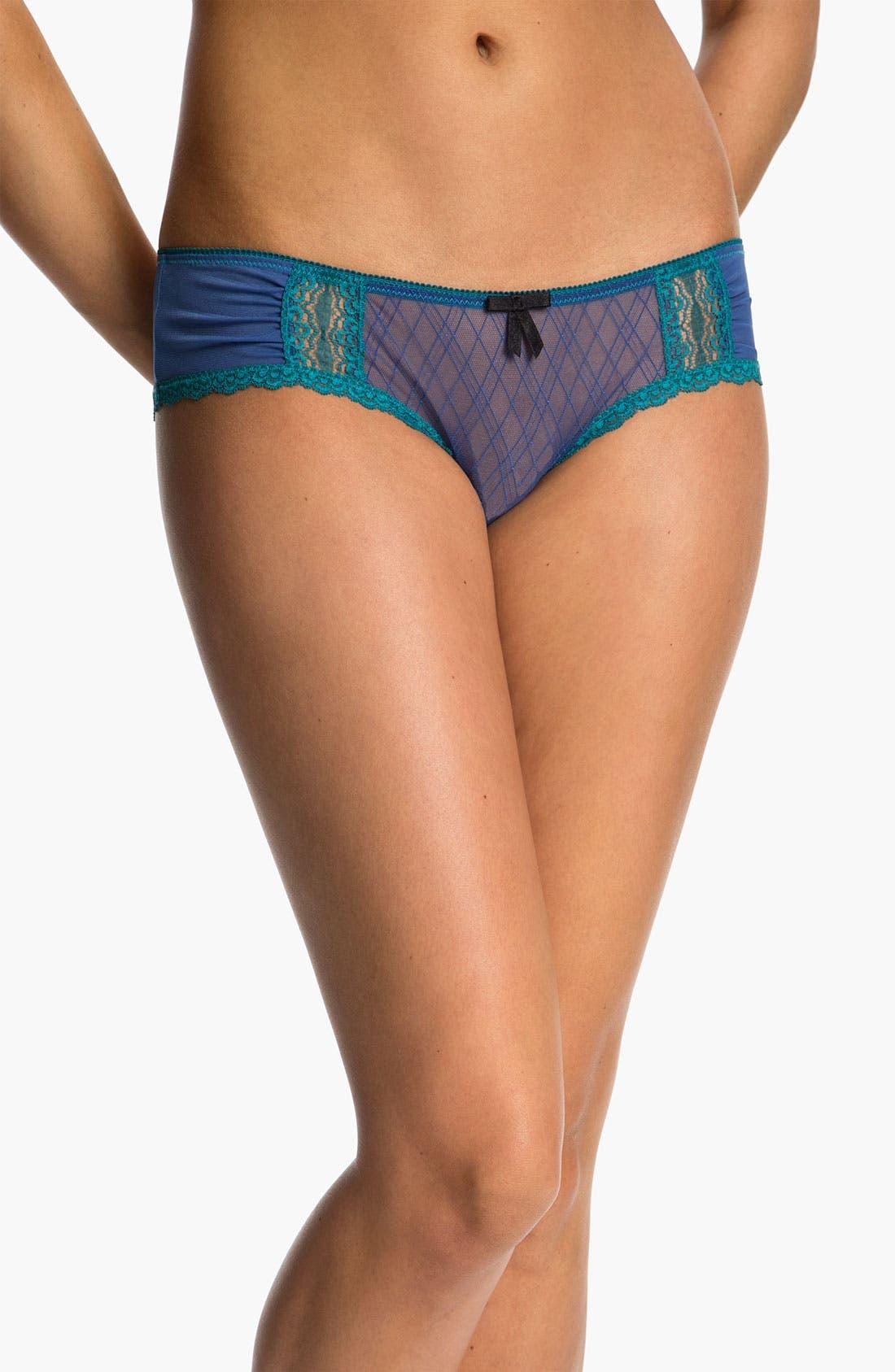 Alternate Image 1 Selected - Honeydew Intimates Mesh & Lace Hipster Panties