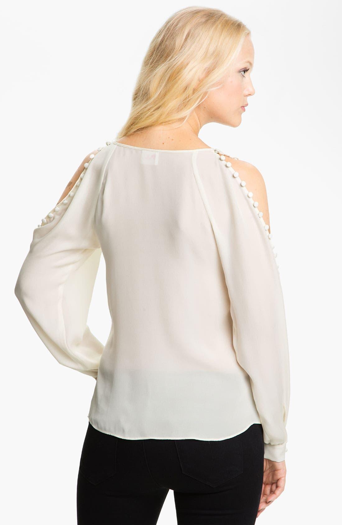 Alternate Image 2  - Parker Open Shoulder Silk Blouse