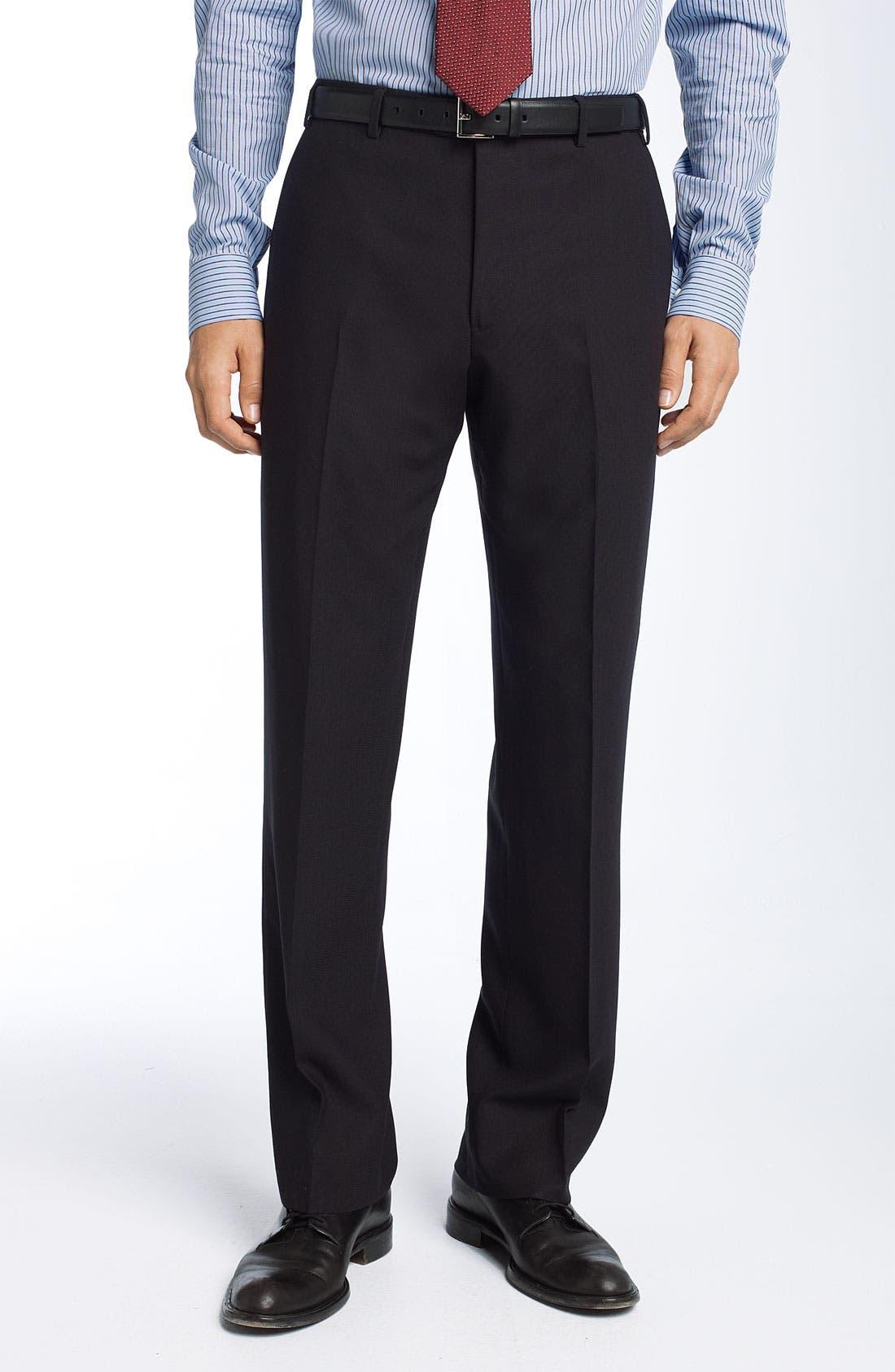 Alternate Image 4  - Armani Collezioni Trim Fit Black Wool Suit