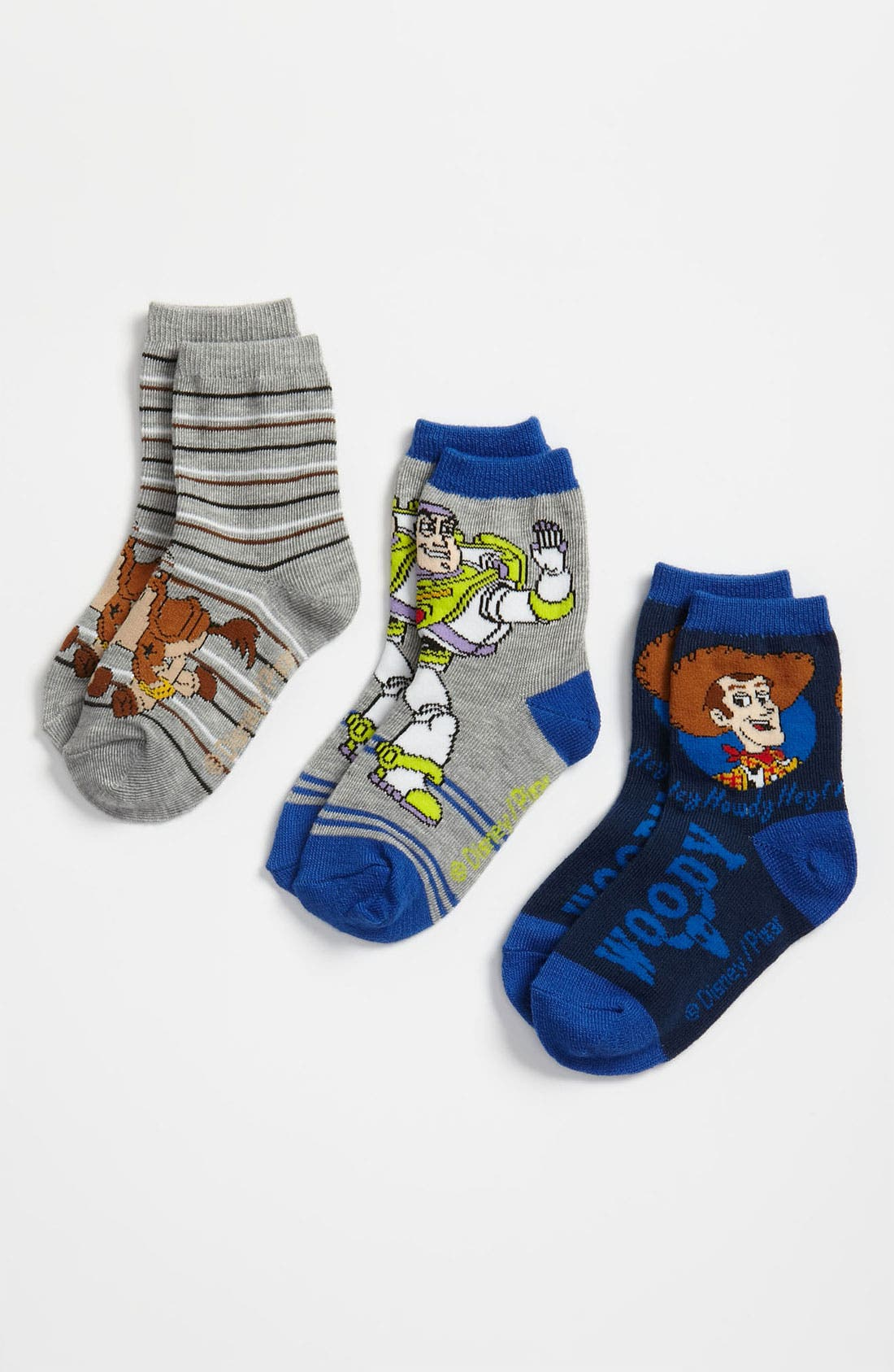 Main Image - Disney 'Toy Story®' Print Socks (3-Pack) (Toddler & Little Kid)
