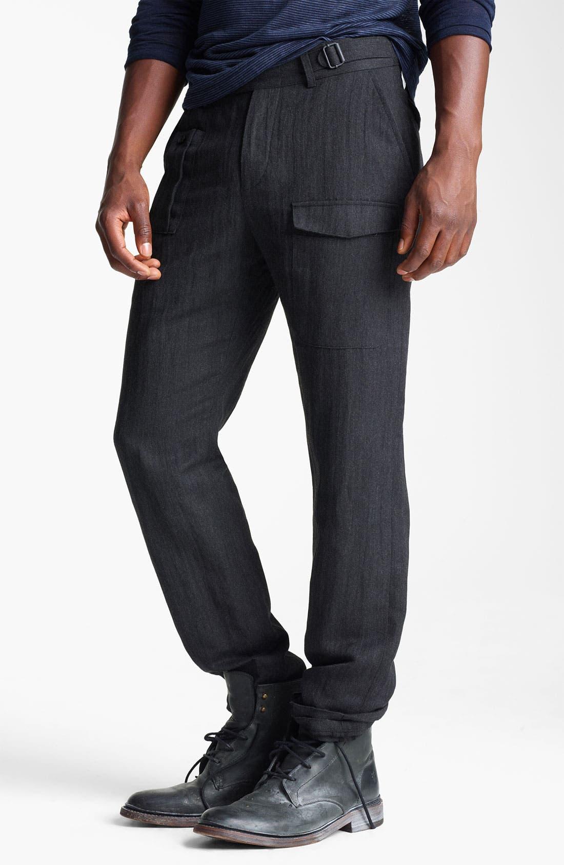 Main Image - John Varvatos Collection Herringbone Slim Fit Pants