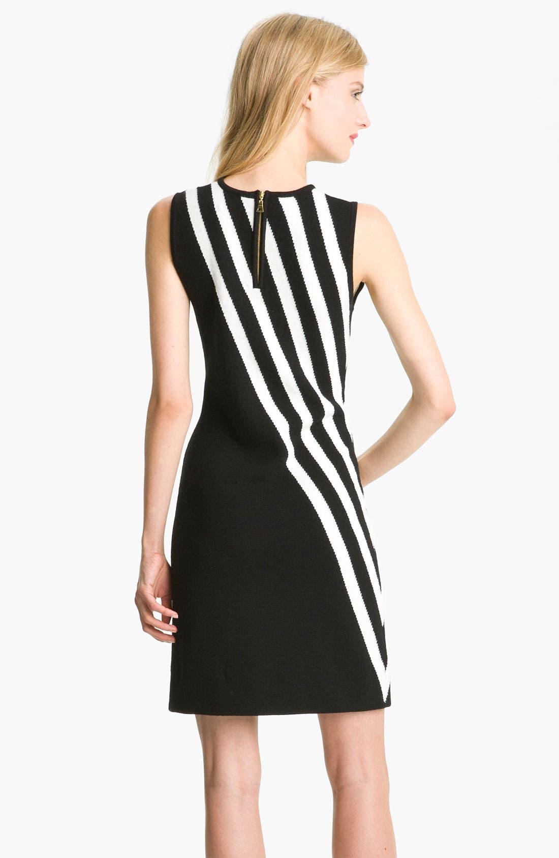 Alternate Image 2  - Milly Stripe Merino Wool Shift Dress