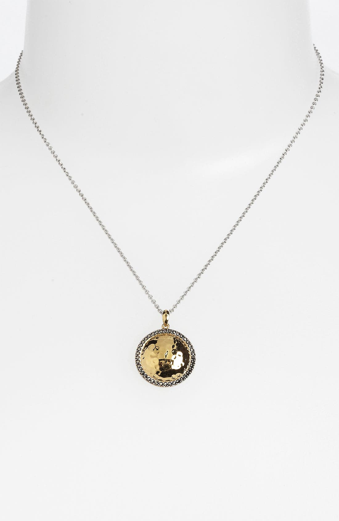 Alternate Image 2  - Judith Jack 'Gold Sea' Puffy Dome Pendant Necklace