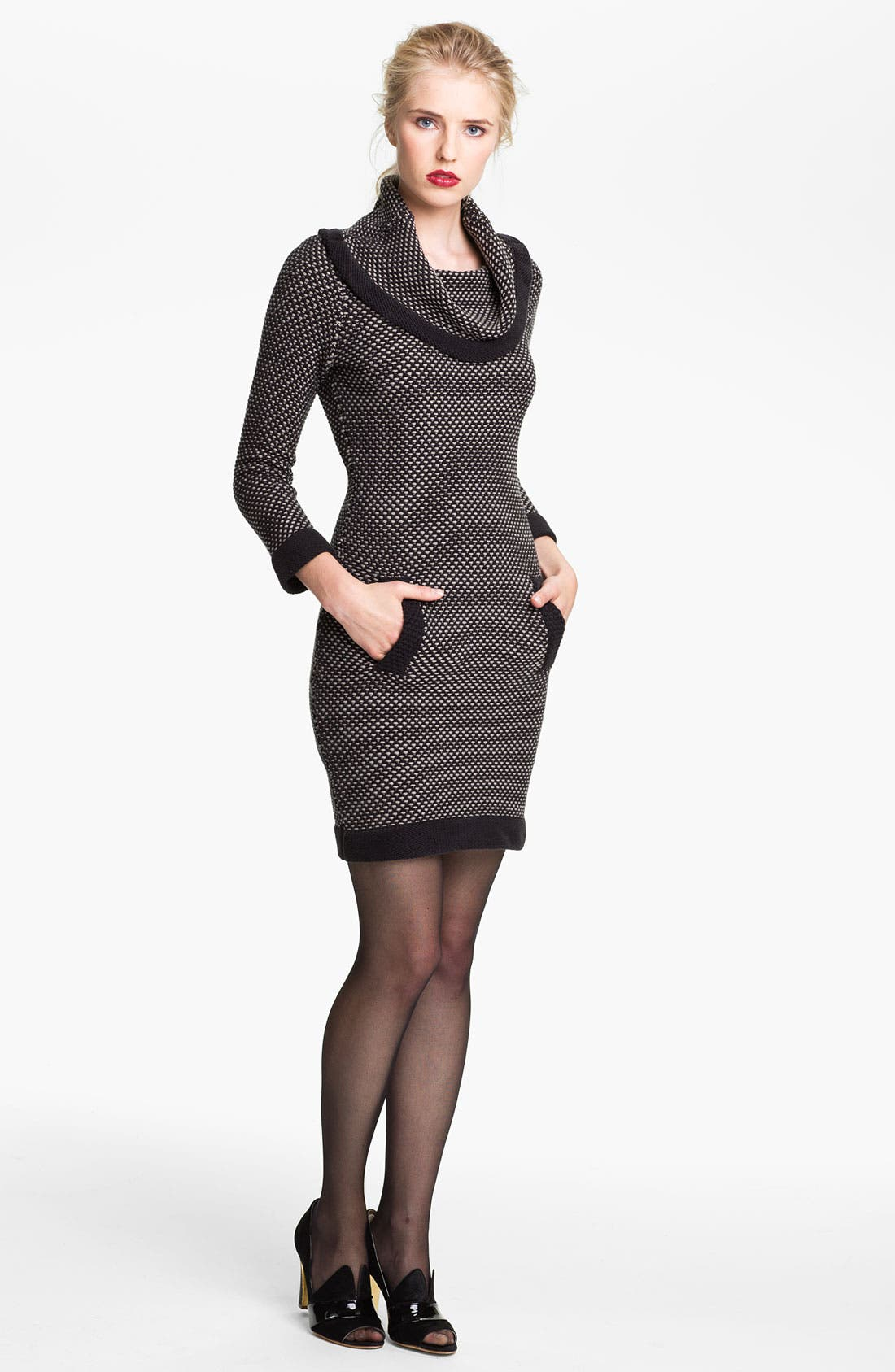 Main Image - Tracy Reese Cowl Neck Chunky Knit Dress