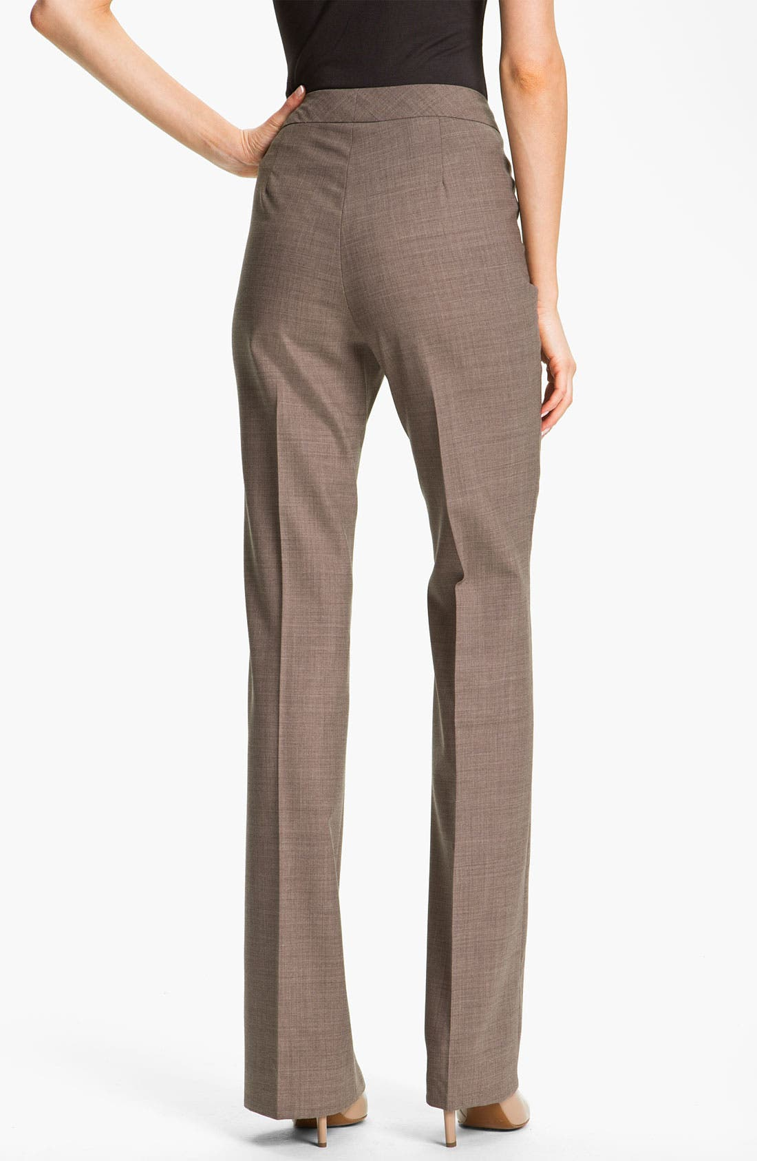Alternate Image 2  - Santorelli 'Mara' Stretch Wool Pants