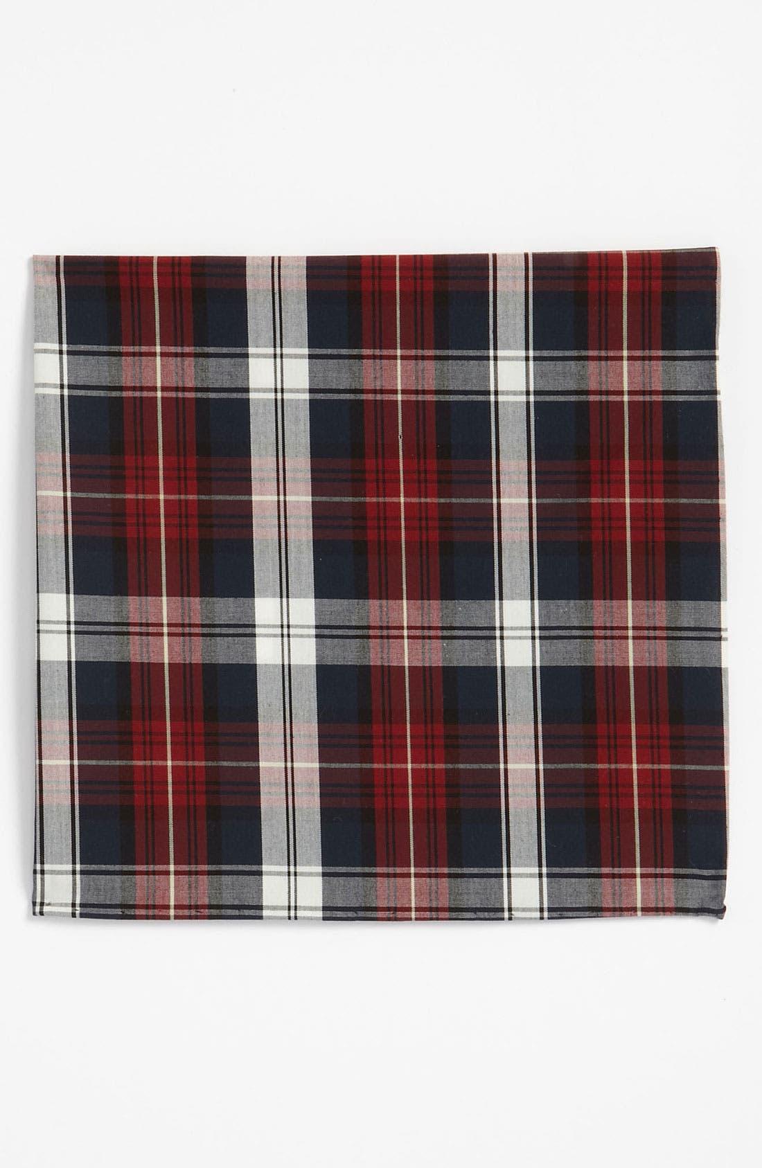 Main Image - The Tie Bar Plaid Cotton Pocket Square