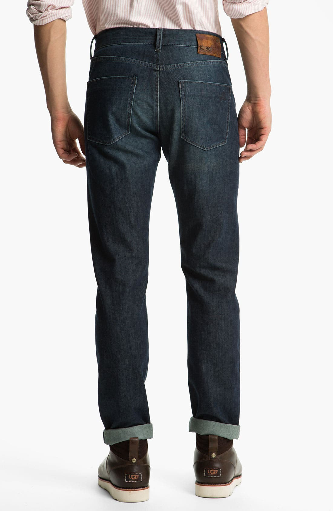 Alternate Image 2  - DL1961 'Russell' Slim Straight Leg Jeans (Mustang)