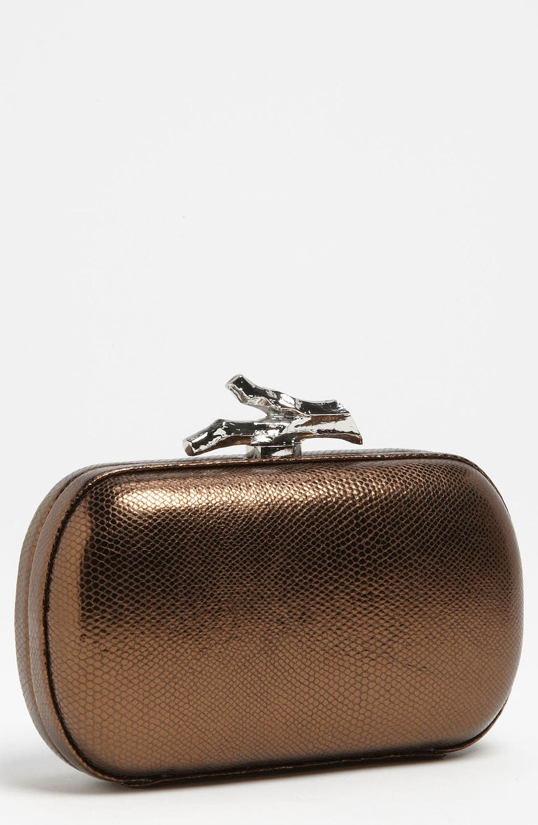 Main Image - Diane von Furstenberg 'Lytton - Small' Metallic Leather Clutch