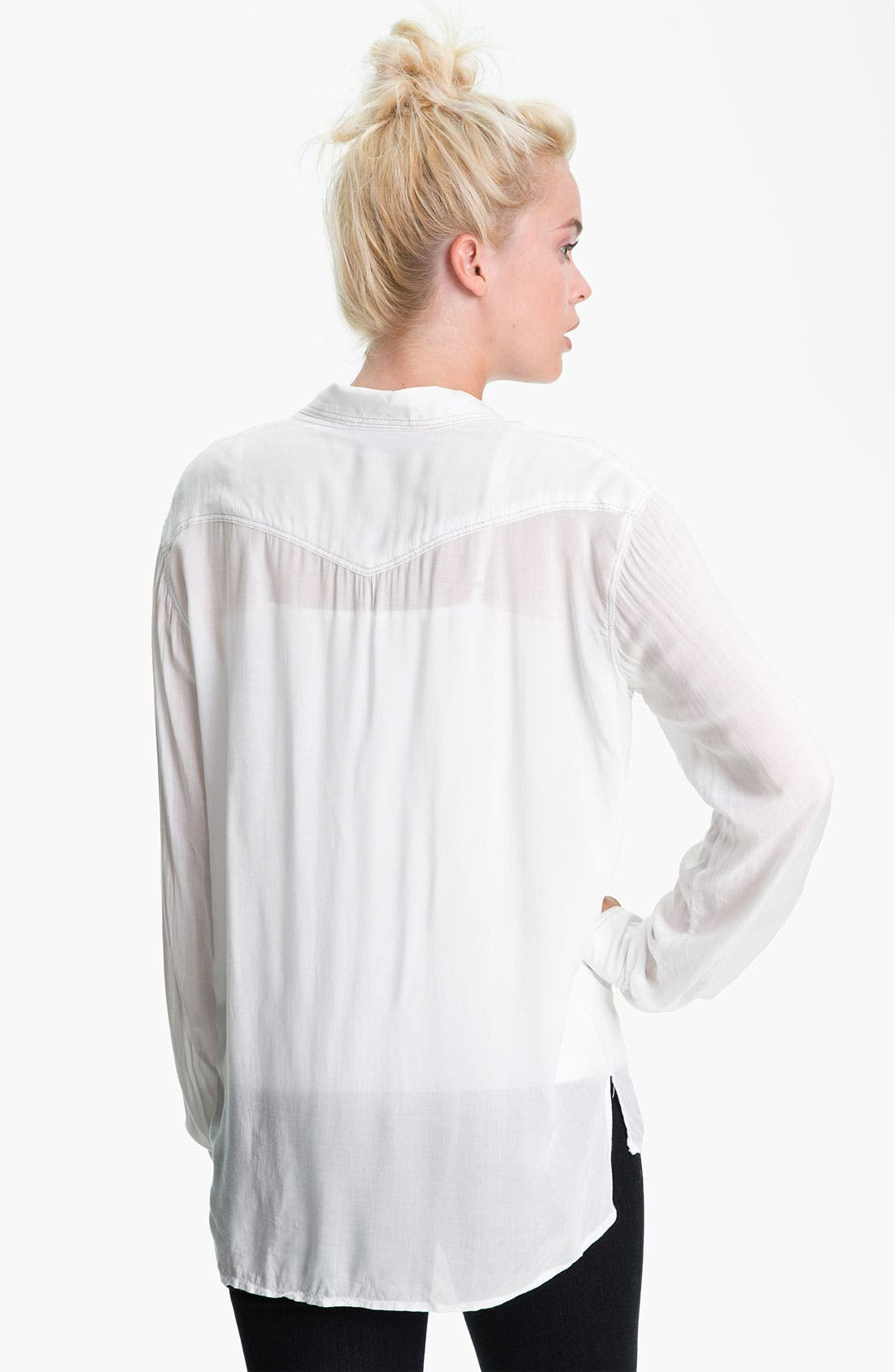 Alternate Image 2  - James Perse Slouchy Western Shirt