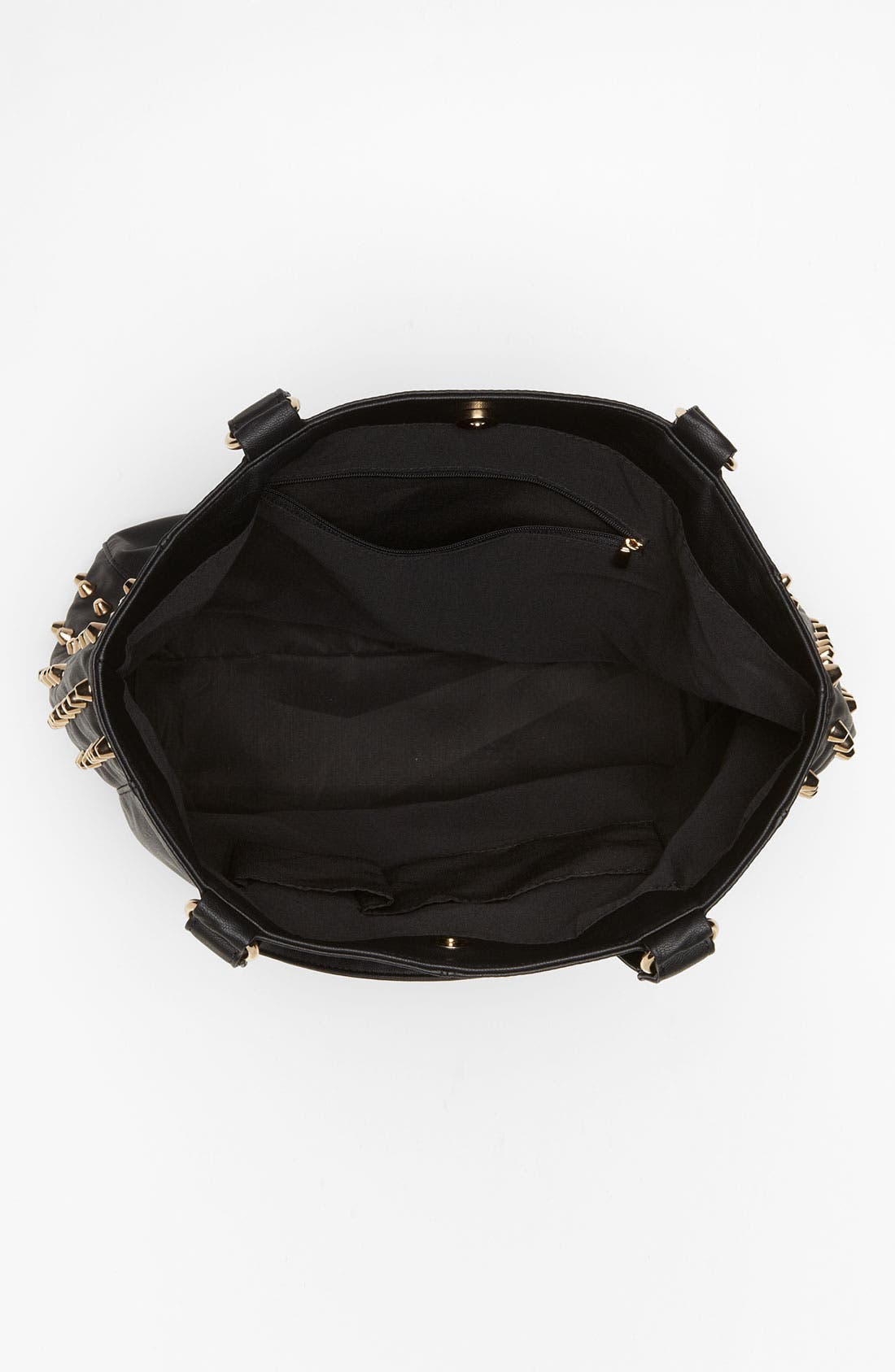Alternate Image 3  - Cesca Studded Faux Leather Tote