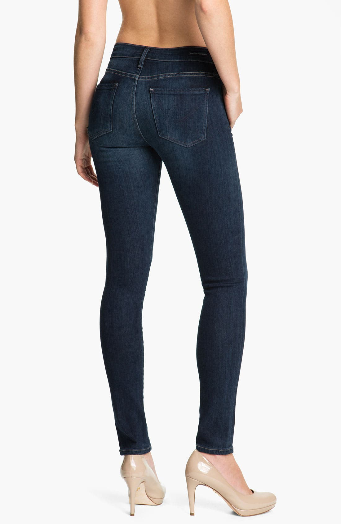 Alternate Image 2  - Citizens of Humanity Skinny Stretch Denim Leggings (Royal)