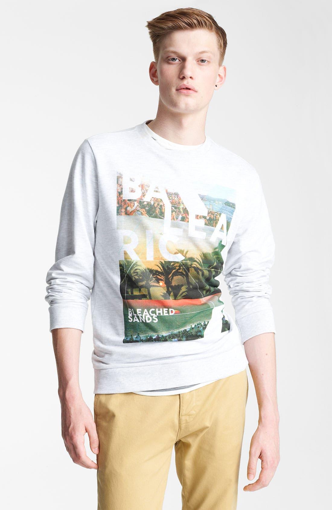Alternate Image 1 Selected - Topman 'Balearic' Graphic Sweatshirt