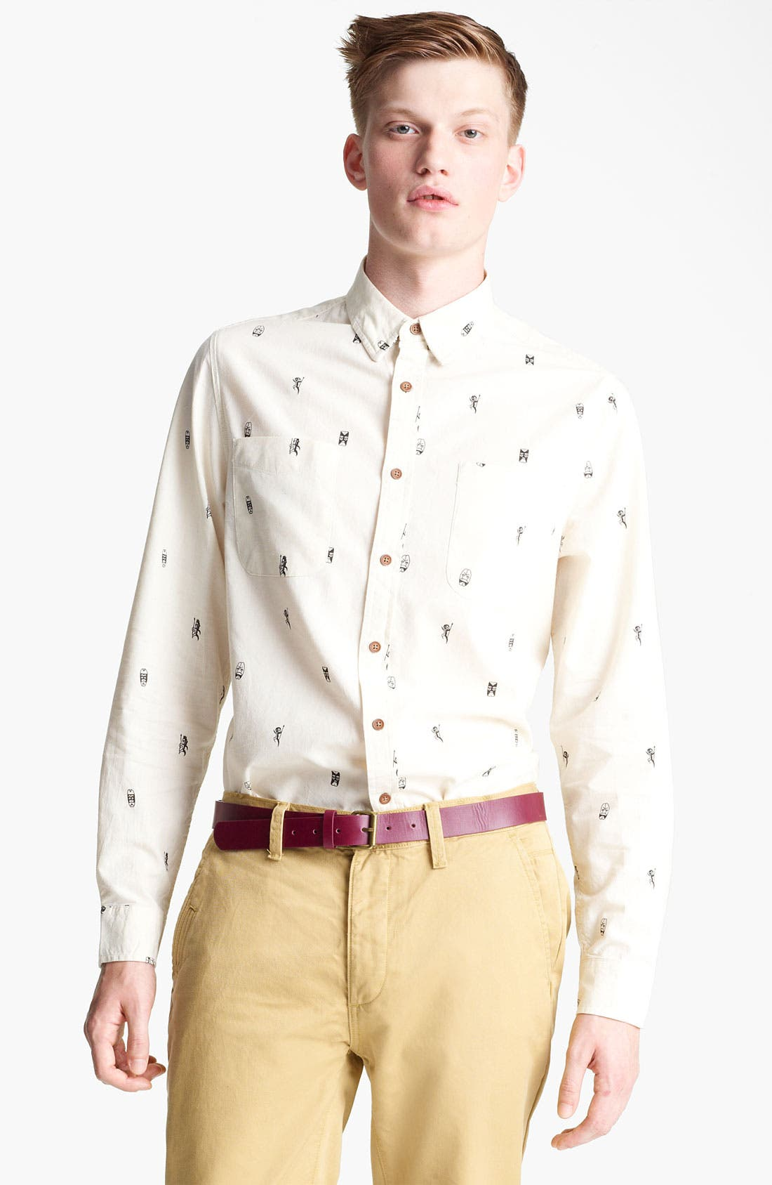 Main Image - Topman 'Tiki Man' Woven Shirt