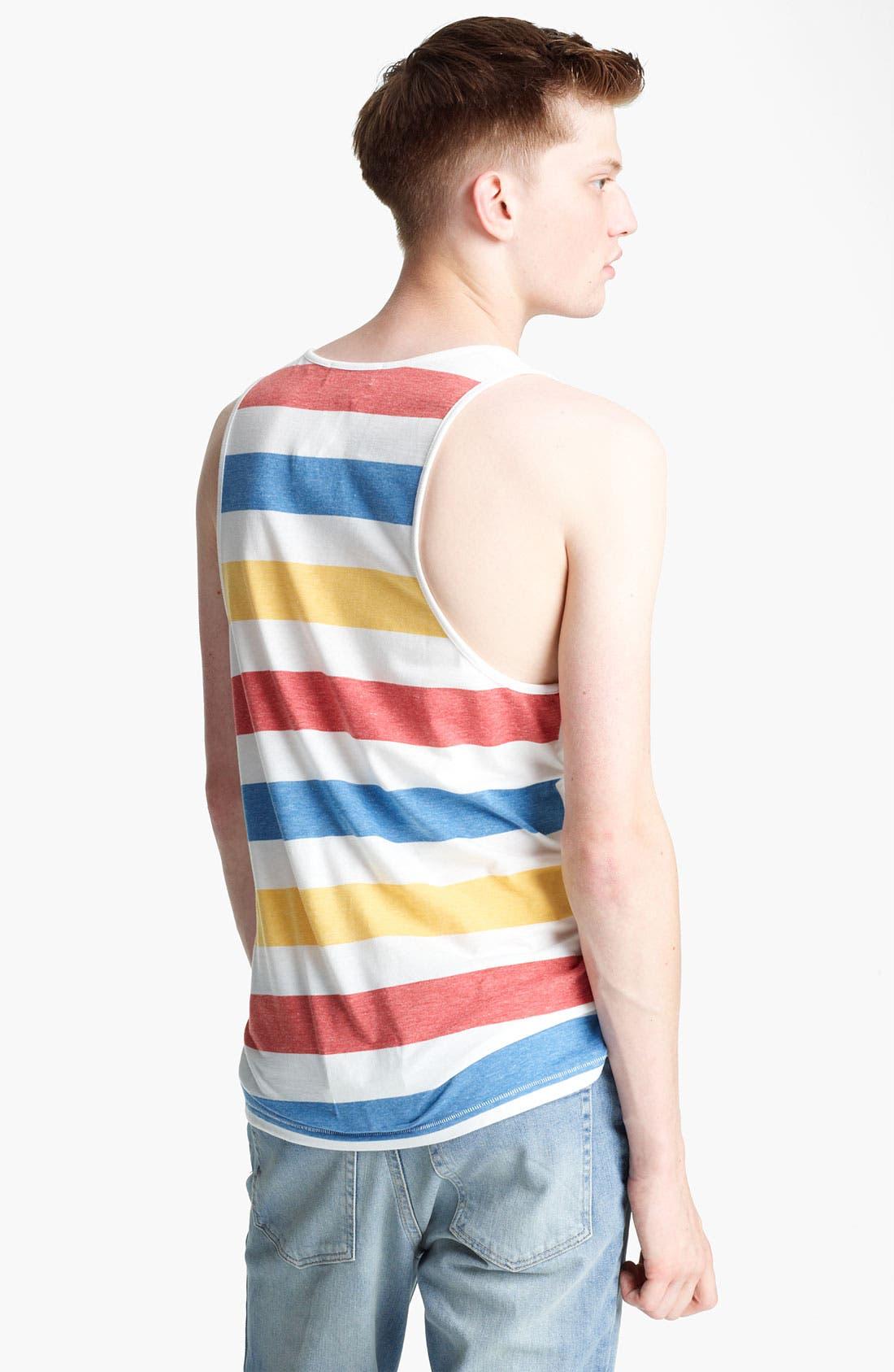 Alternate Image 2  - Topman 'Olly' Stripe Tank Top