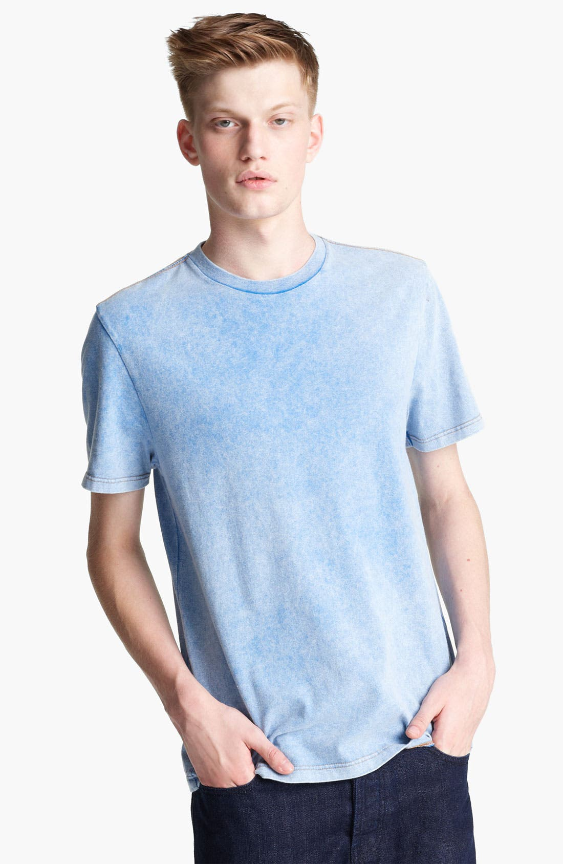Main Image - Topman Washed Cotton T-Shirt