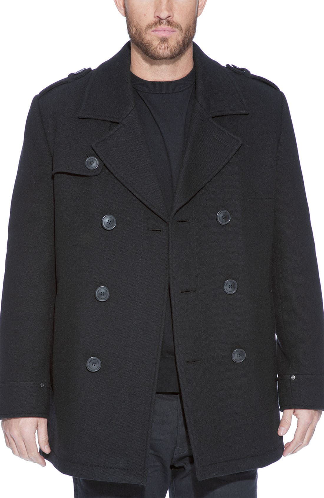 Alternate Image 4  - Marc New York by Andrew Marc 'Nick' Wool Blend Peacoat