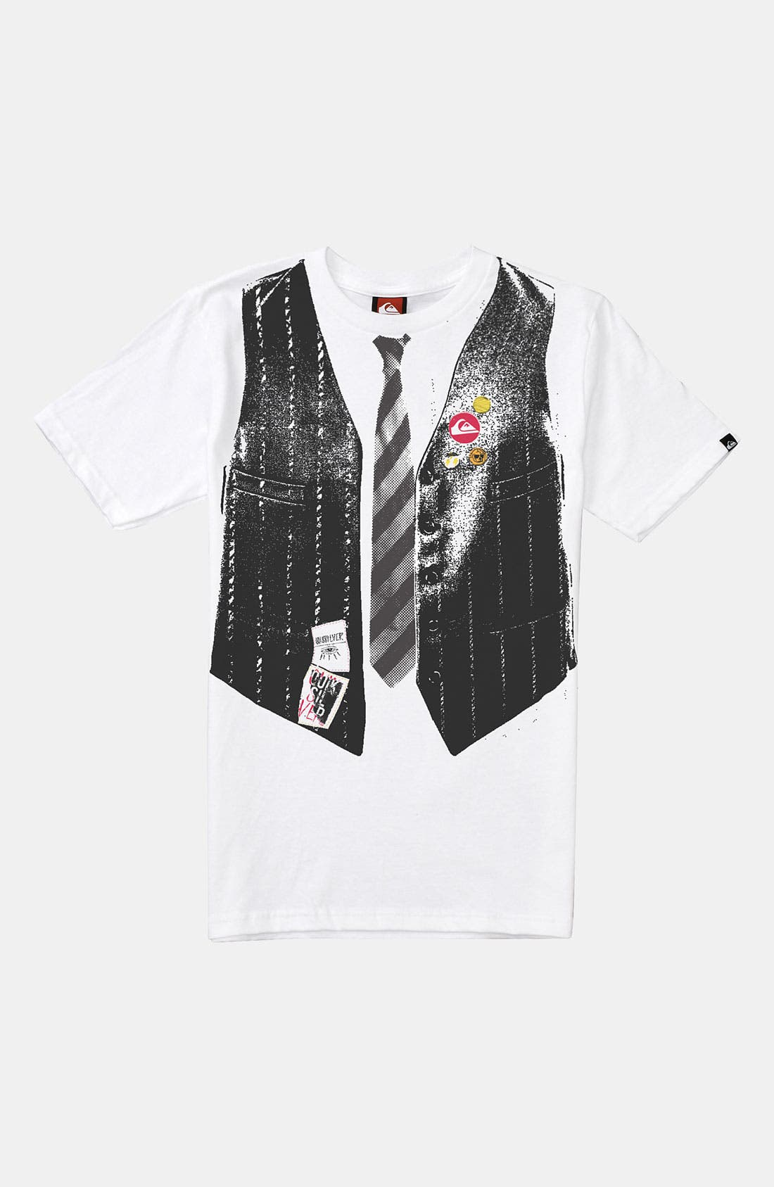 Main Image - Quiksilver 'Big Night Out' Screenprint T-Shirt (Big Boys)