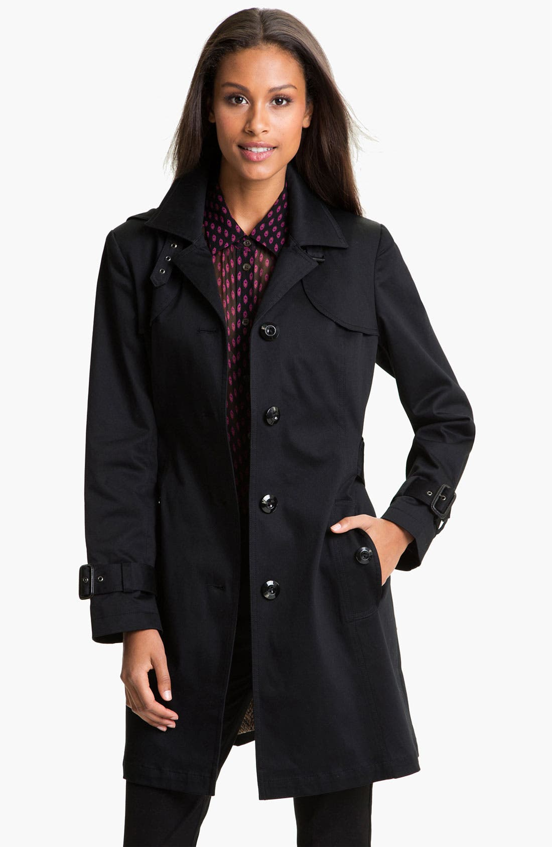 Main Image - Gallery Single Breasted Trench Coat