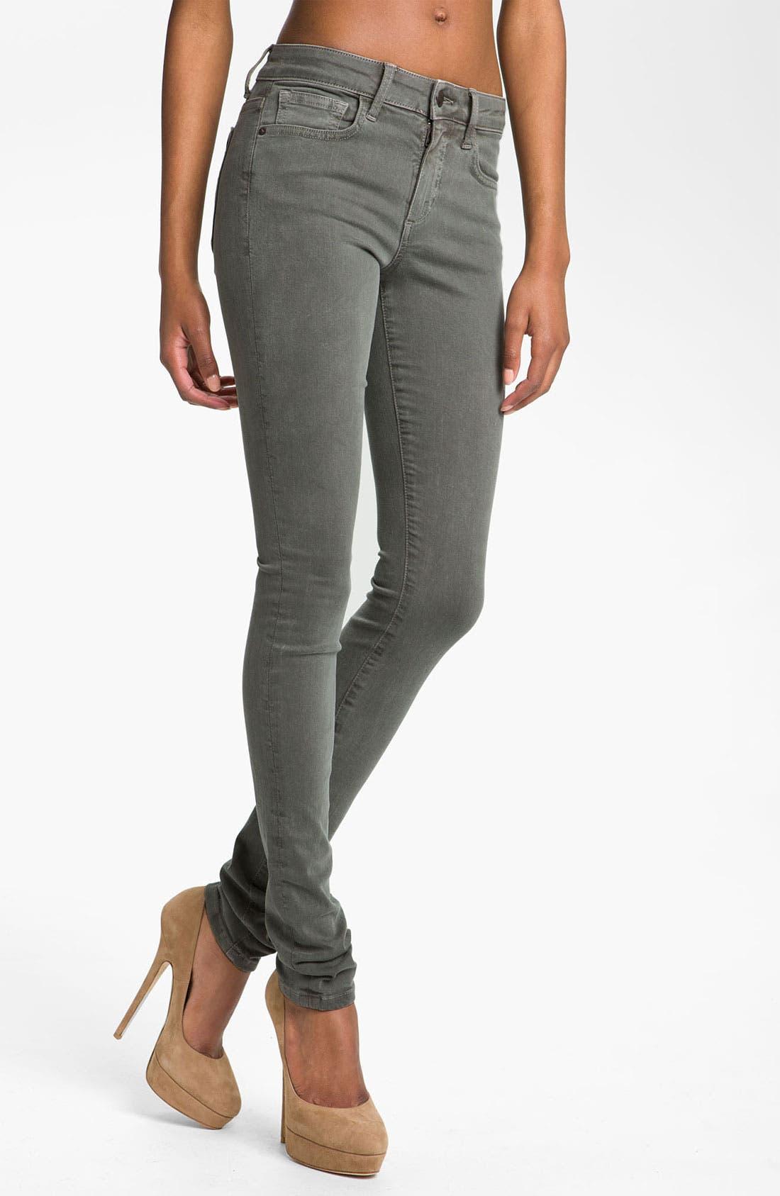 Alternate Image 1 Selected - Joe's Skinny Stretch Denim Jeans (Bay Leaf)