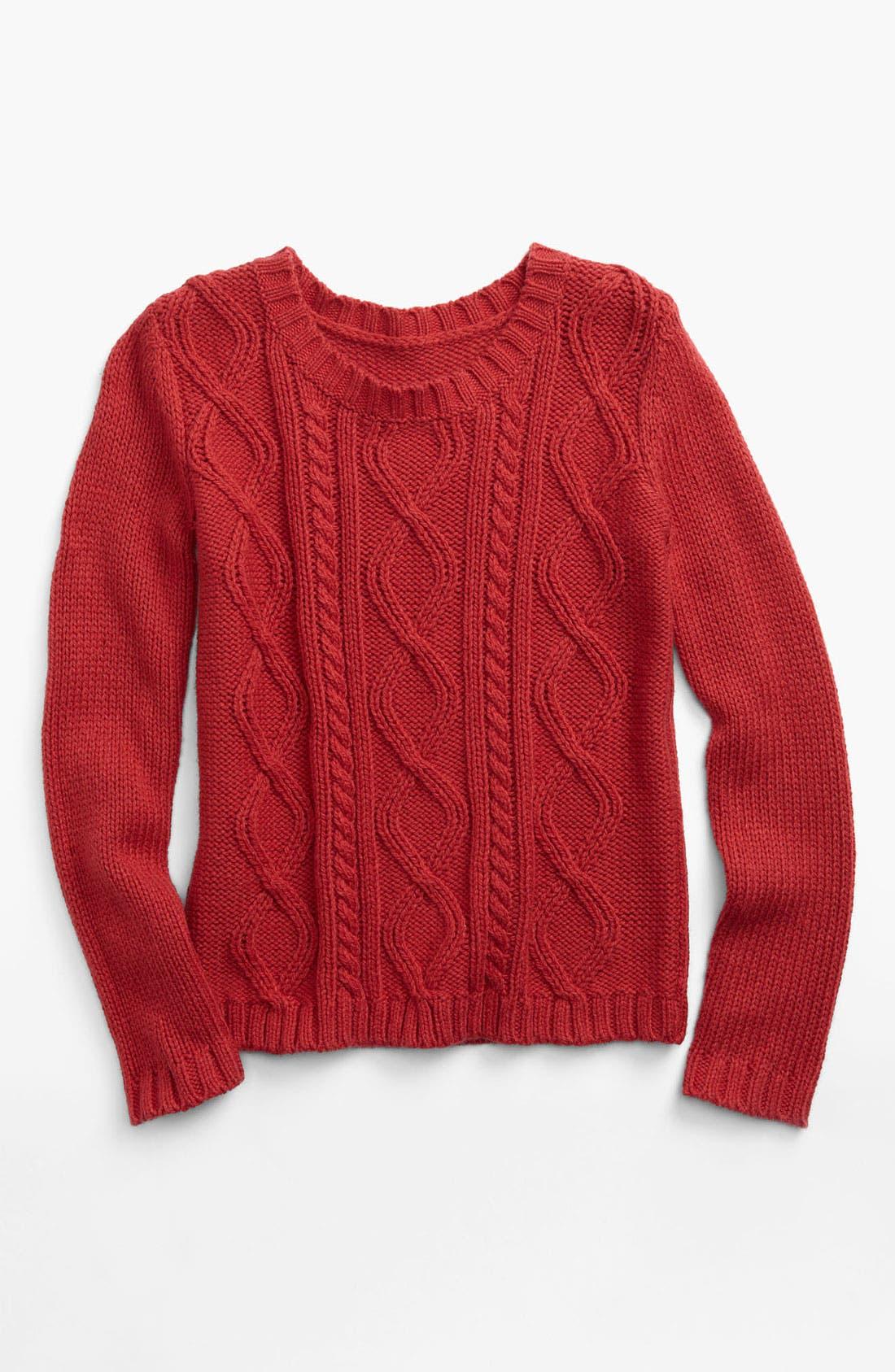 Main Image - Tucker + Tate 'Melody' Cable Knit Sweater (Big Girls)