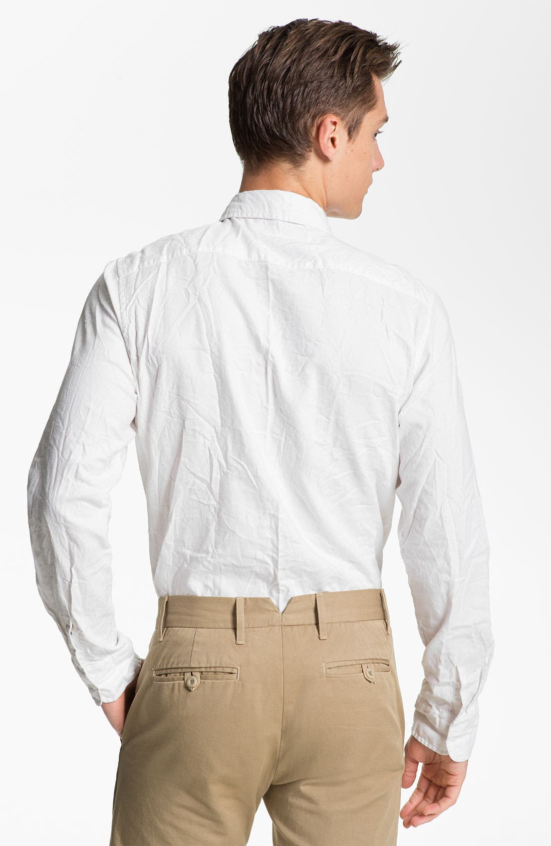 Alternate Image 2  - Save Khaki Oxford Shirt