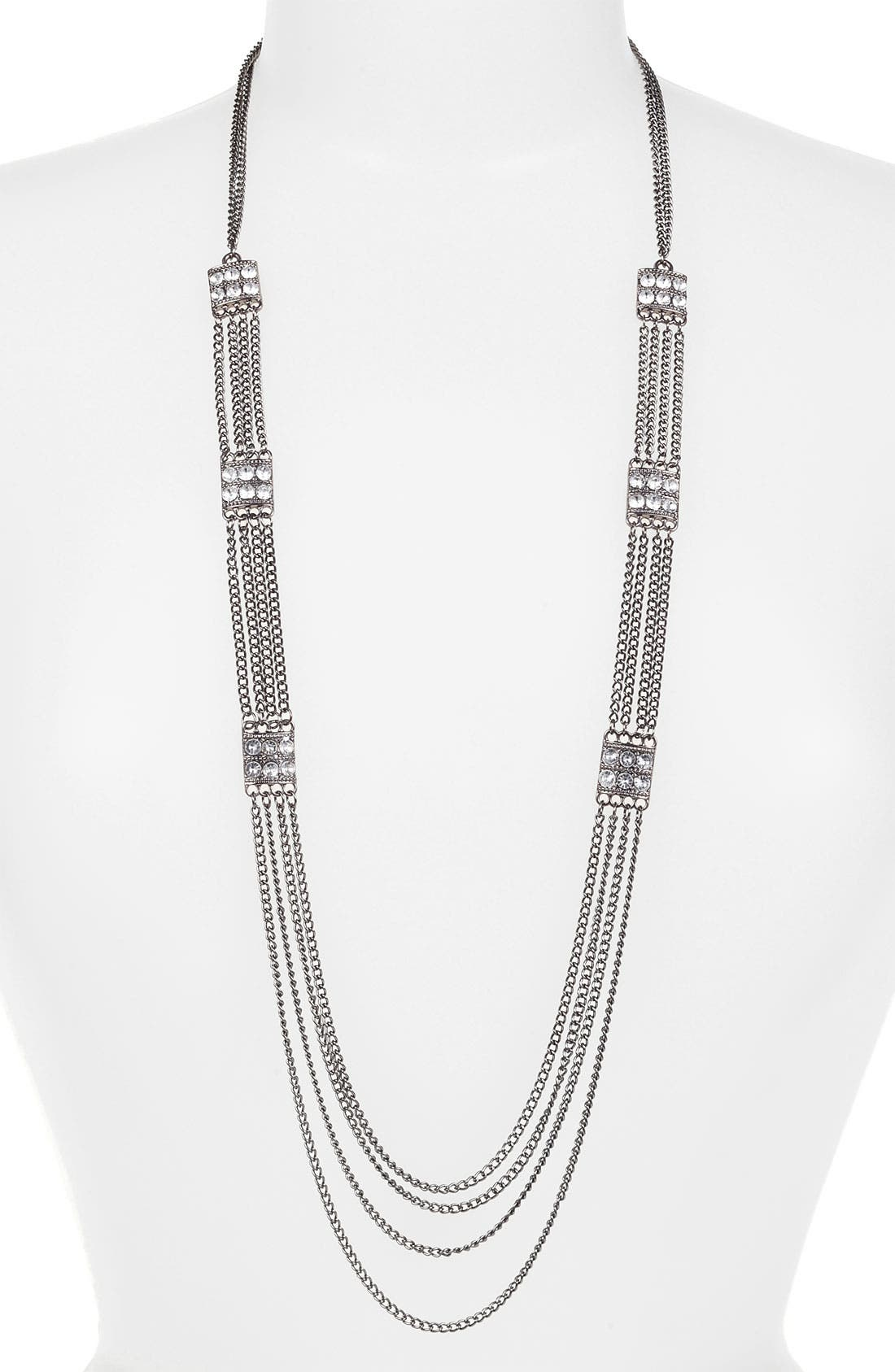 Alternate Image 1 Selected - Carole Layered Chain Necklace