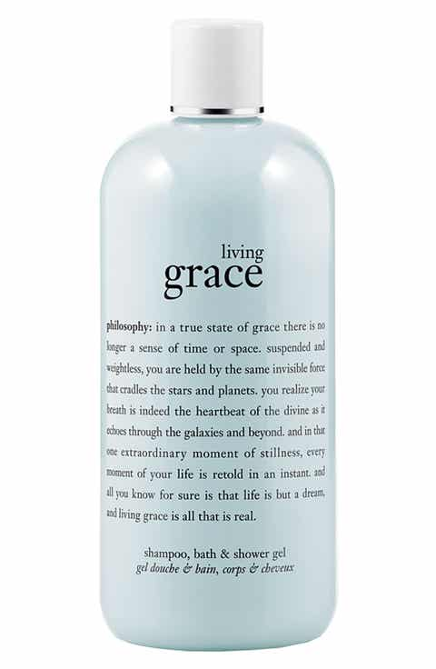 philosophy 'living grace' shampoo, bath   shower gel