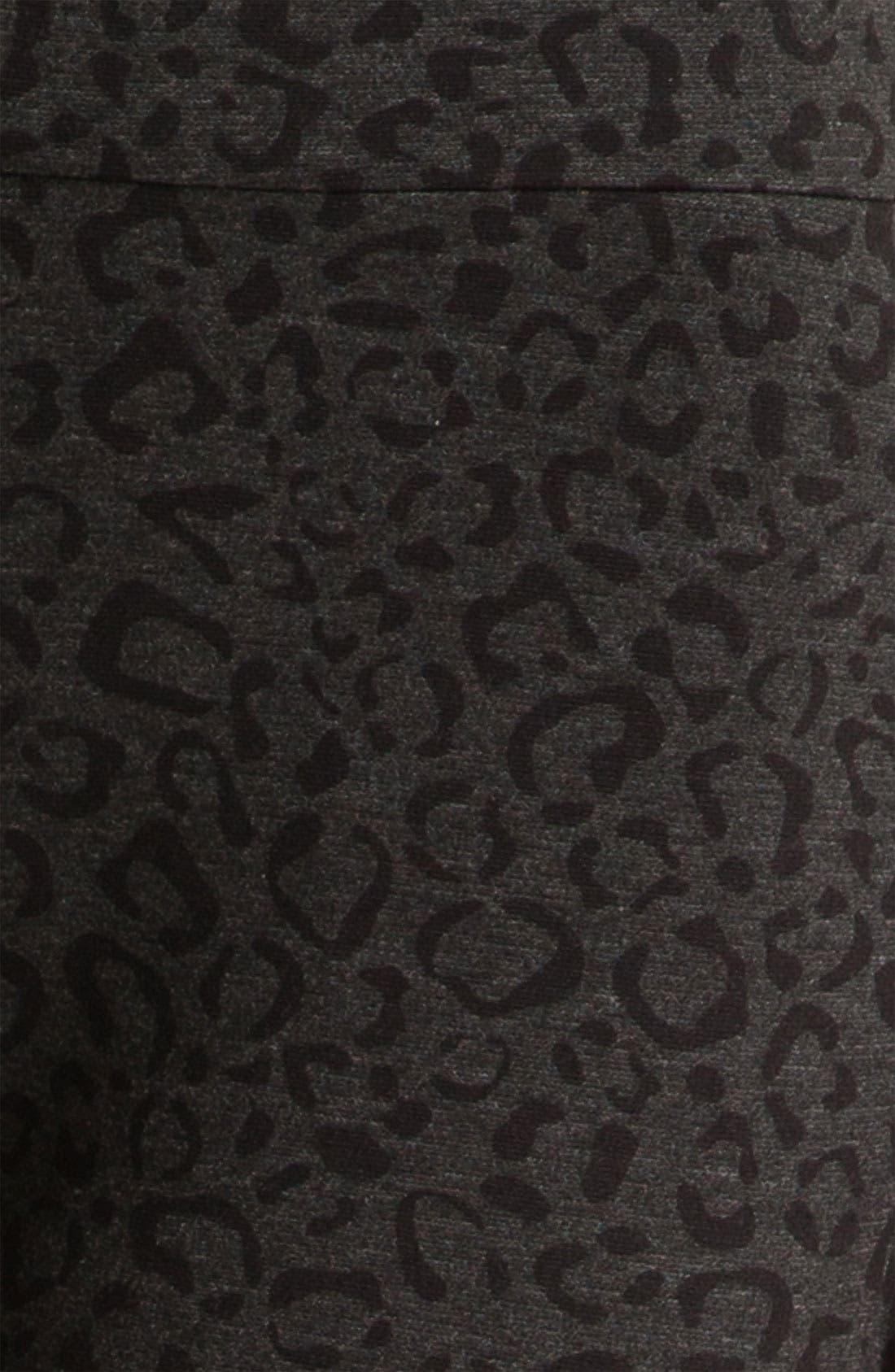 Alternate Image 3  - NYDJ Ocelot Print Ponte Pants (Petite)