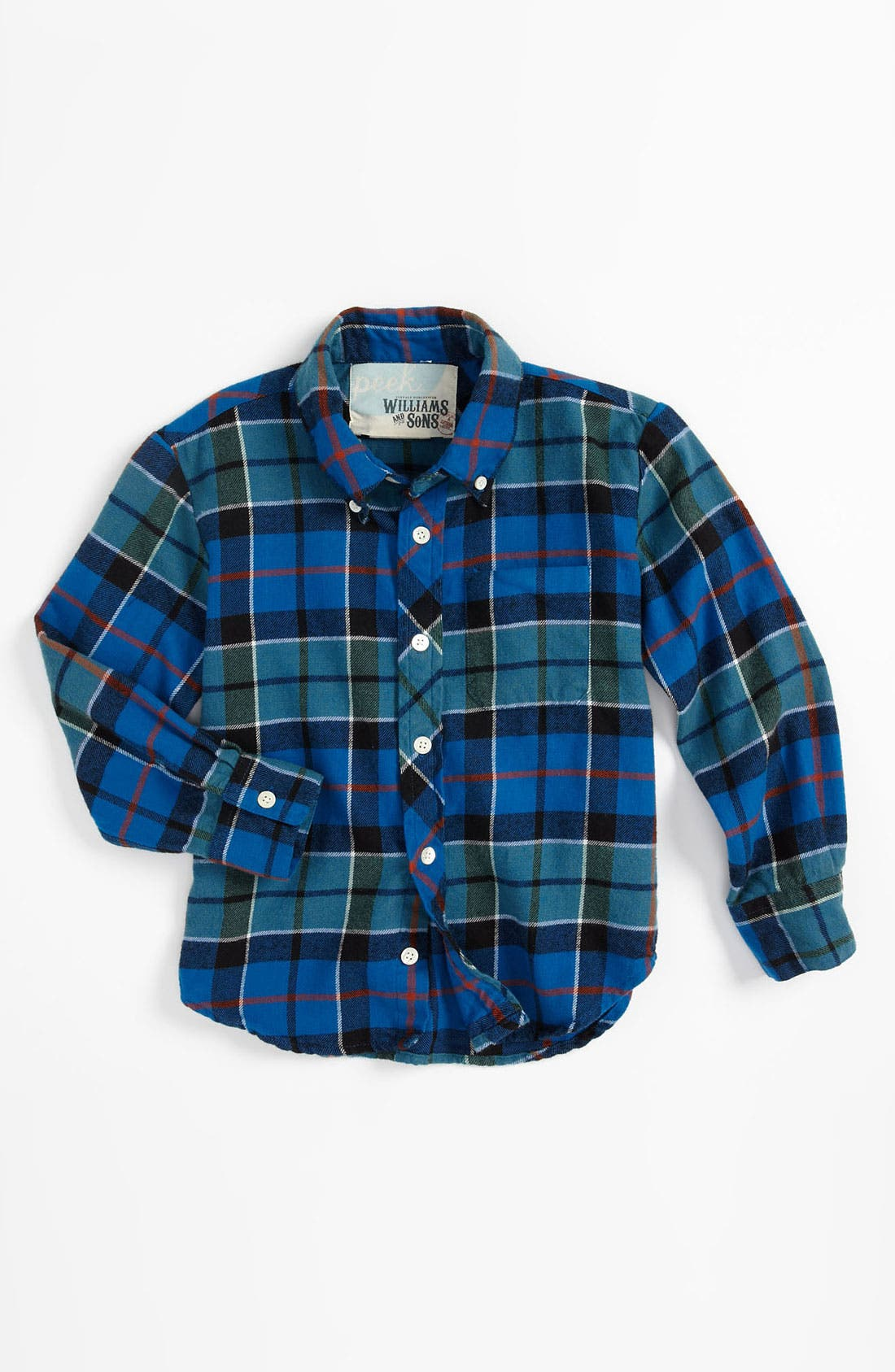 Alternate Image 1 Selected - Peek 'Barstow' Plaid Shirt (Toddler, Little Boys & Big Boys)
