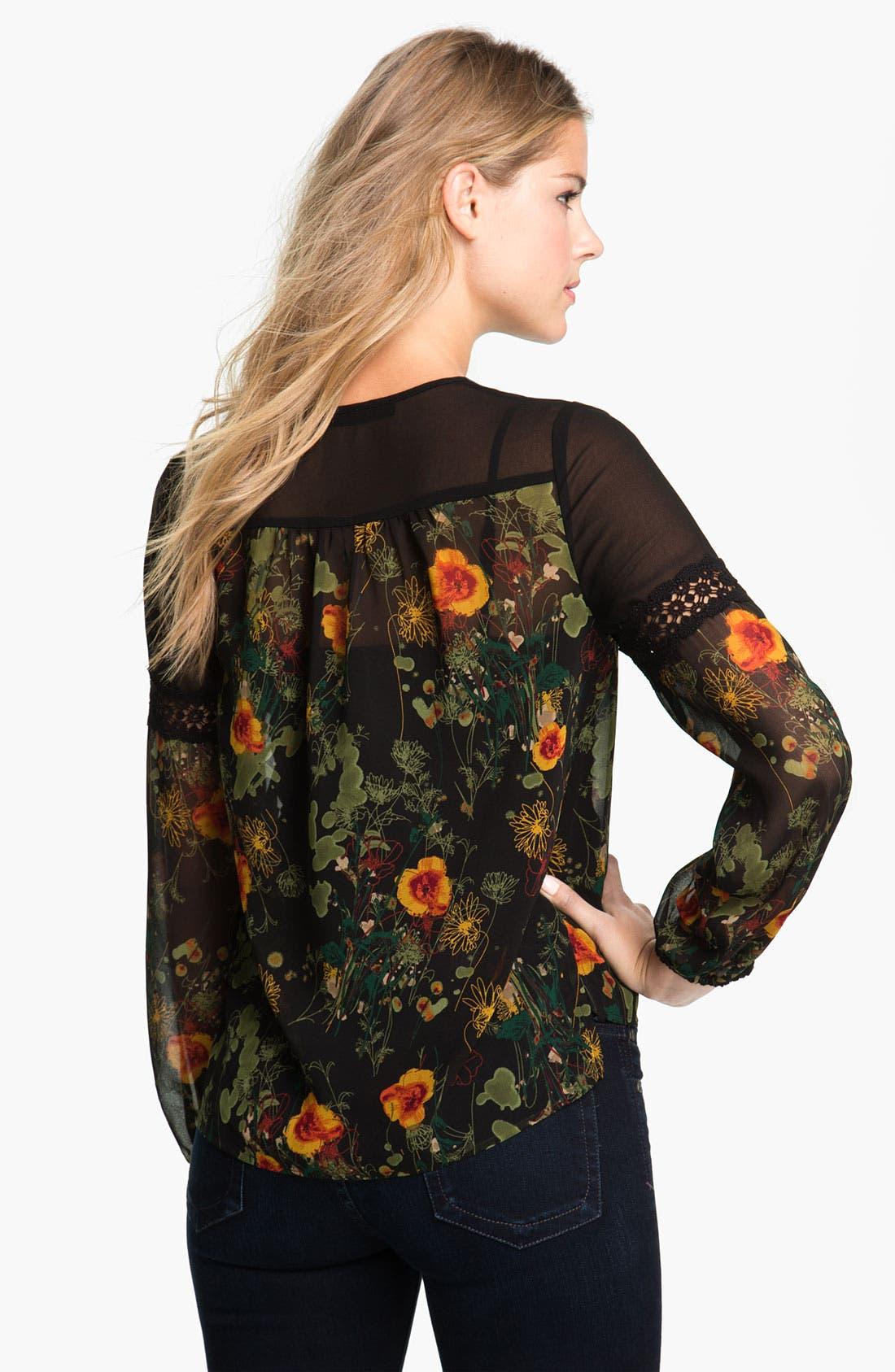Alternate Image 2  - Kensie 'Airy Floral' Blouse (Online Exclusive)