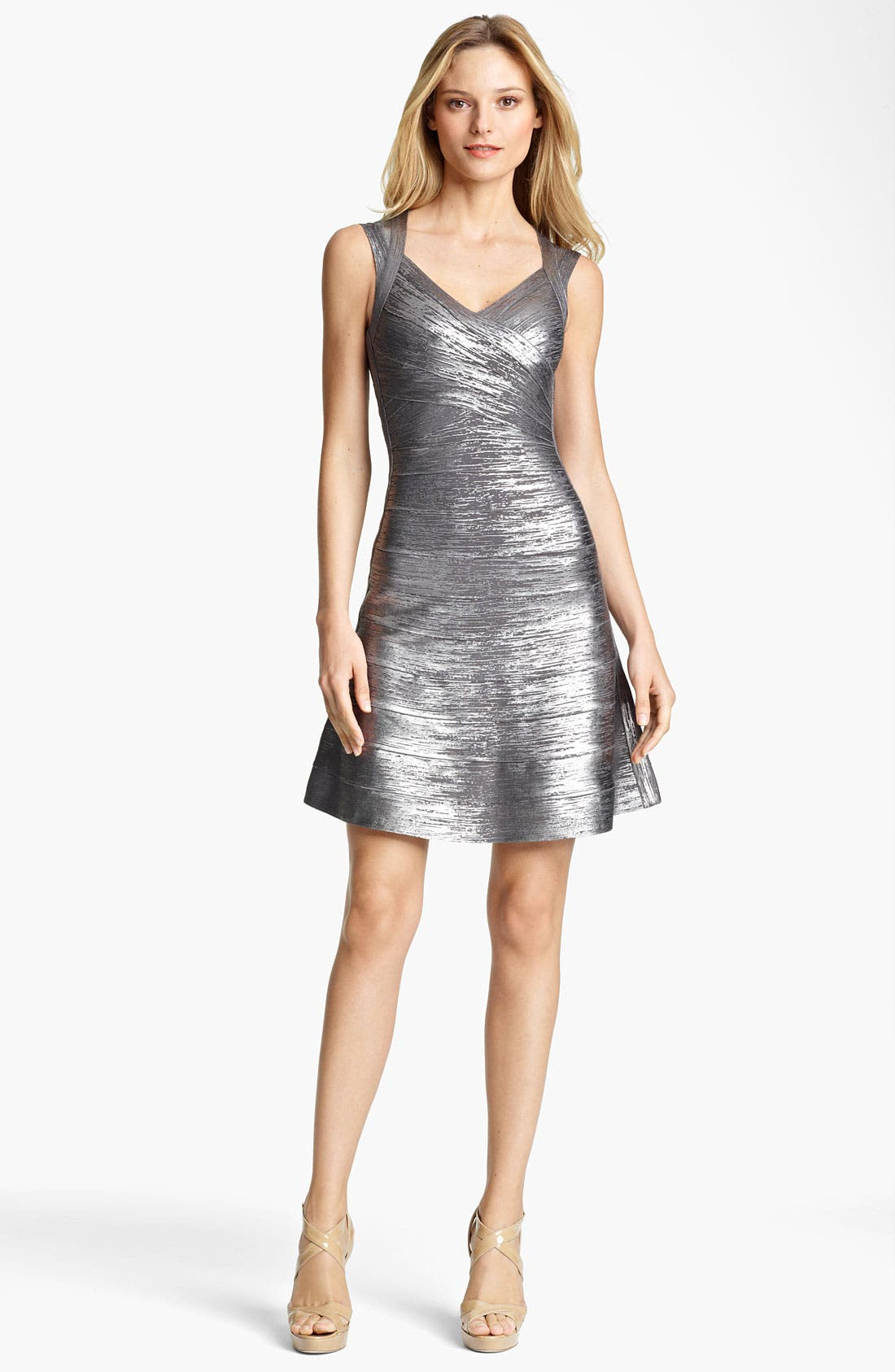 Main Image - Herve Leger Metallic Bandage Dress
