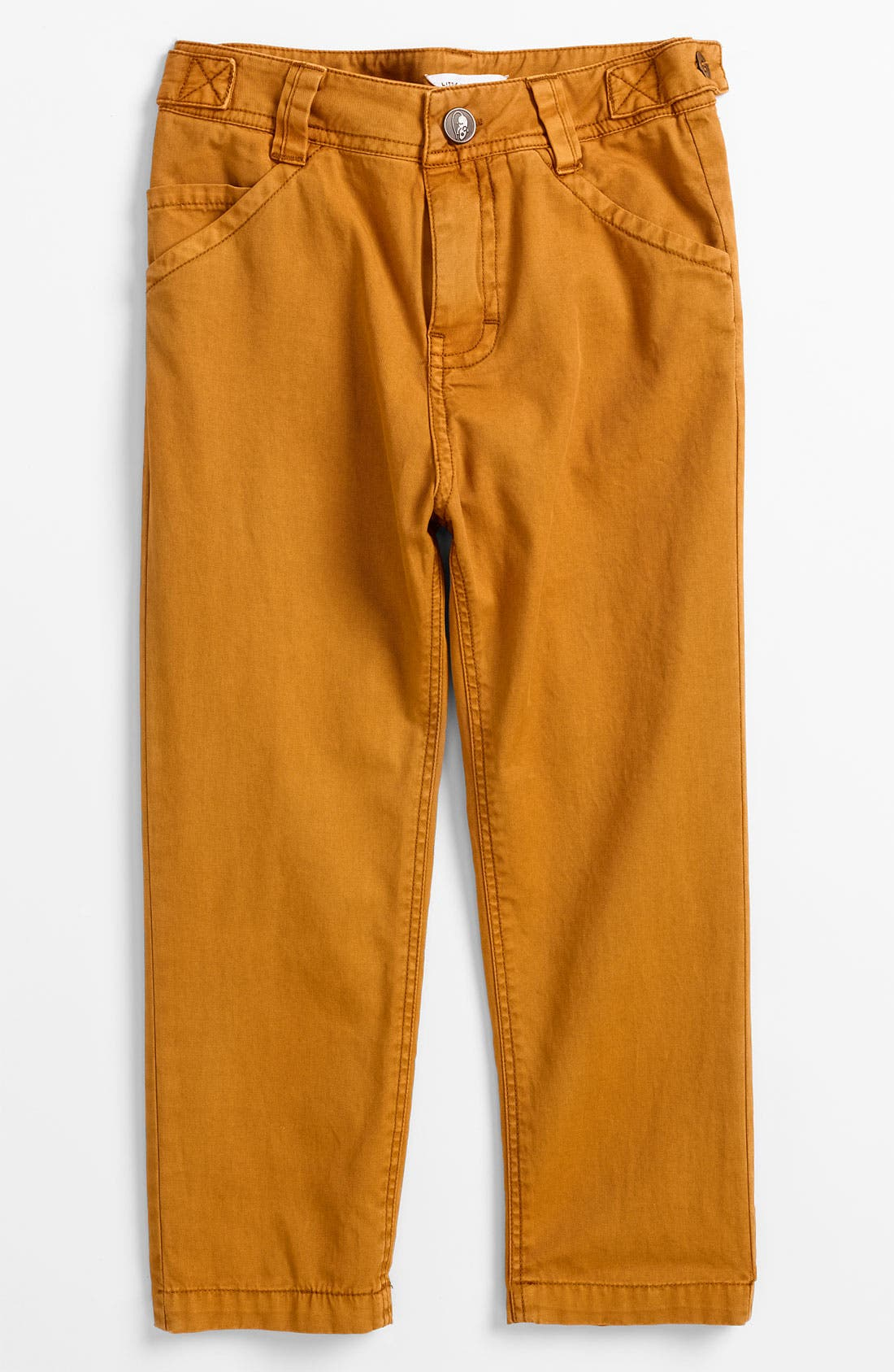 Alternate Image 2  - LITTLE MARC JACOBS Flat Front Cotton Twill Pants (Toddler, Little Boys & Big Boys)