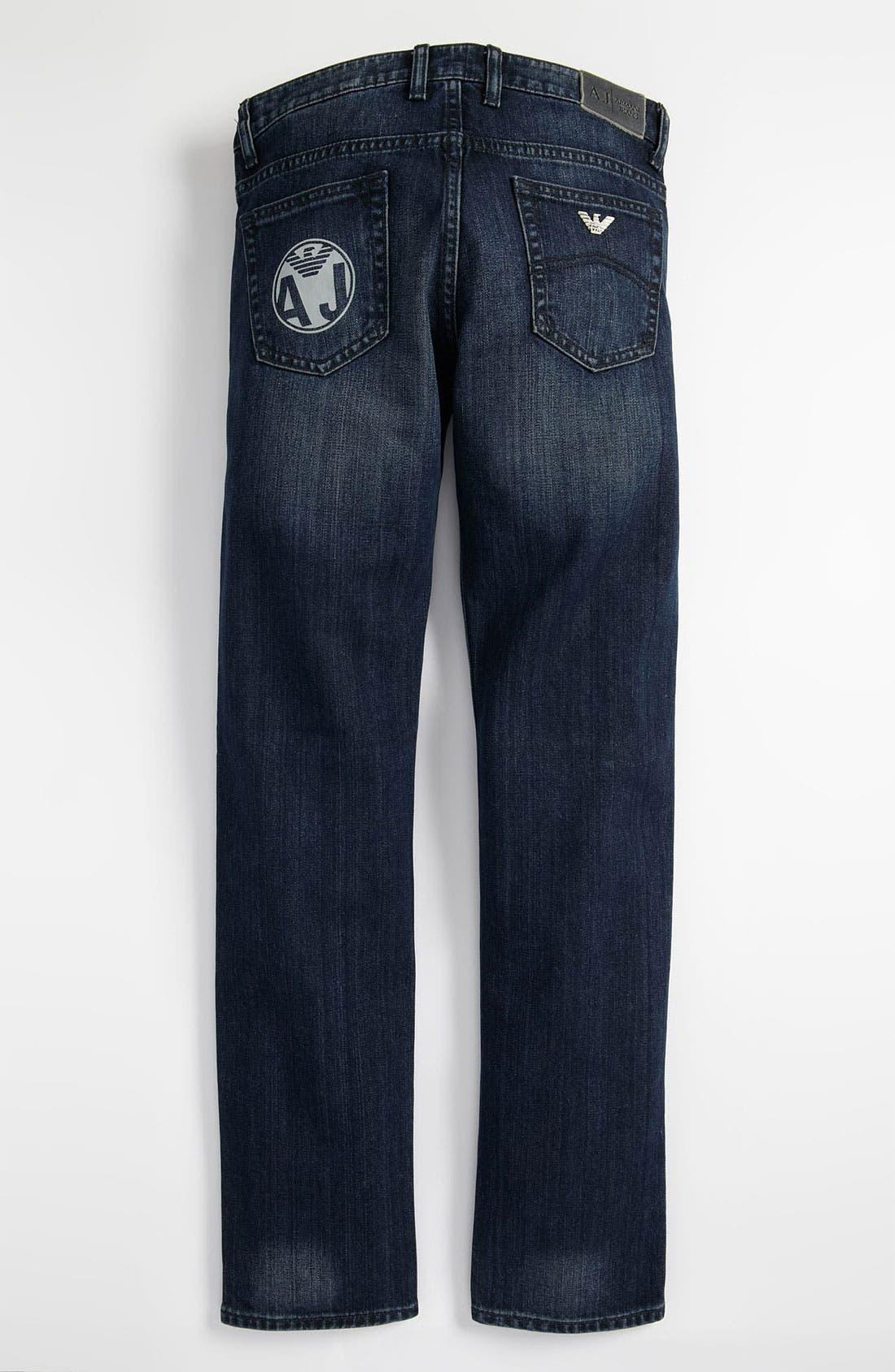 Alternate Image 1 Selected - Armani Junior Straight Leg Jeans (Big Boys)