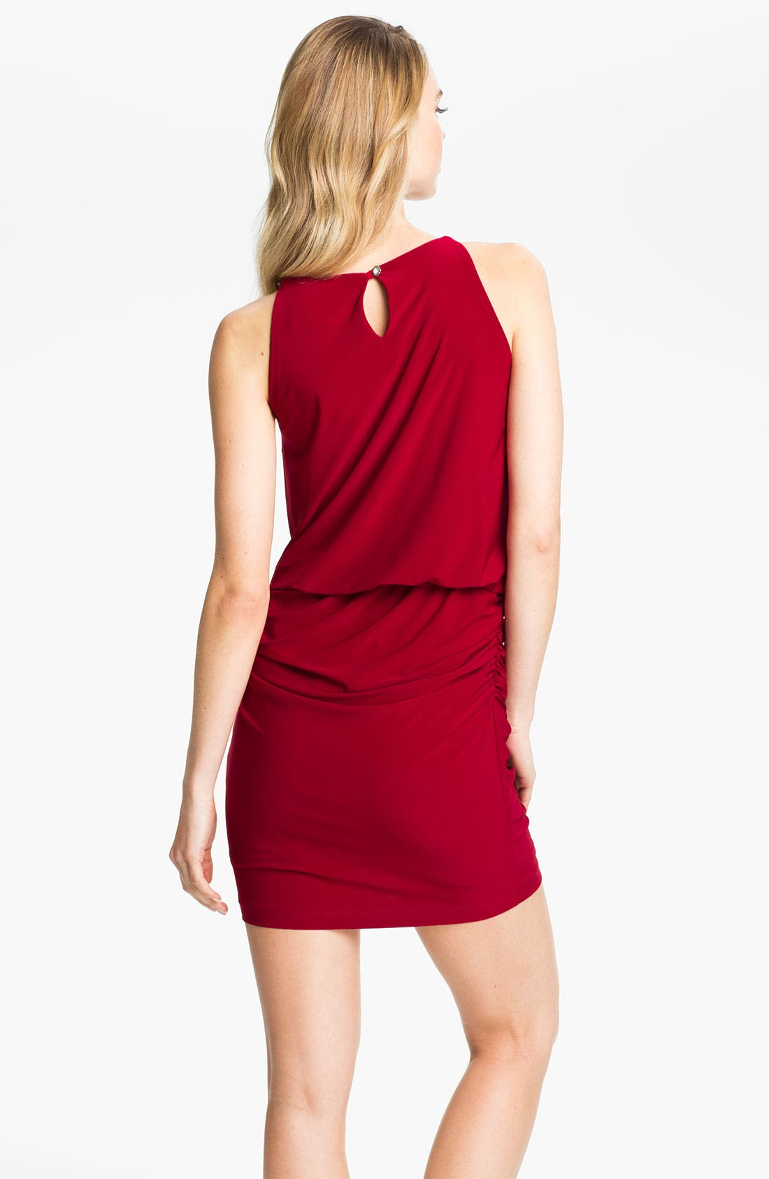 Alternate Image 2  - Betsy & Adam Embellished Keyhole Surplice Jersey Dress