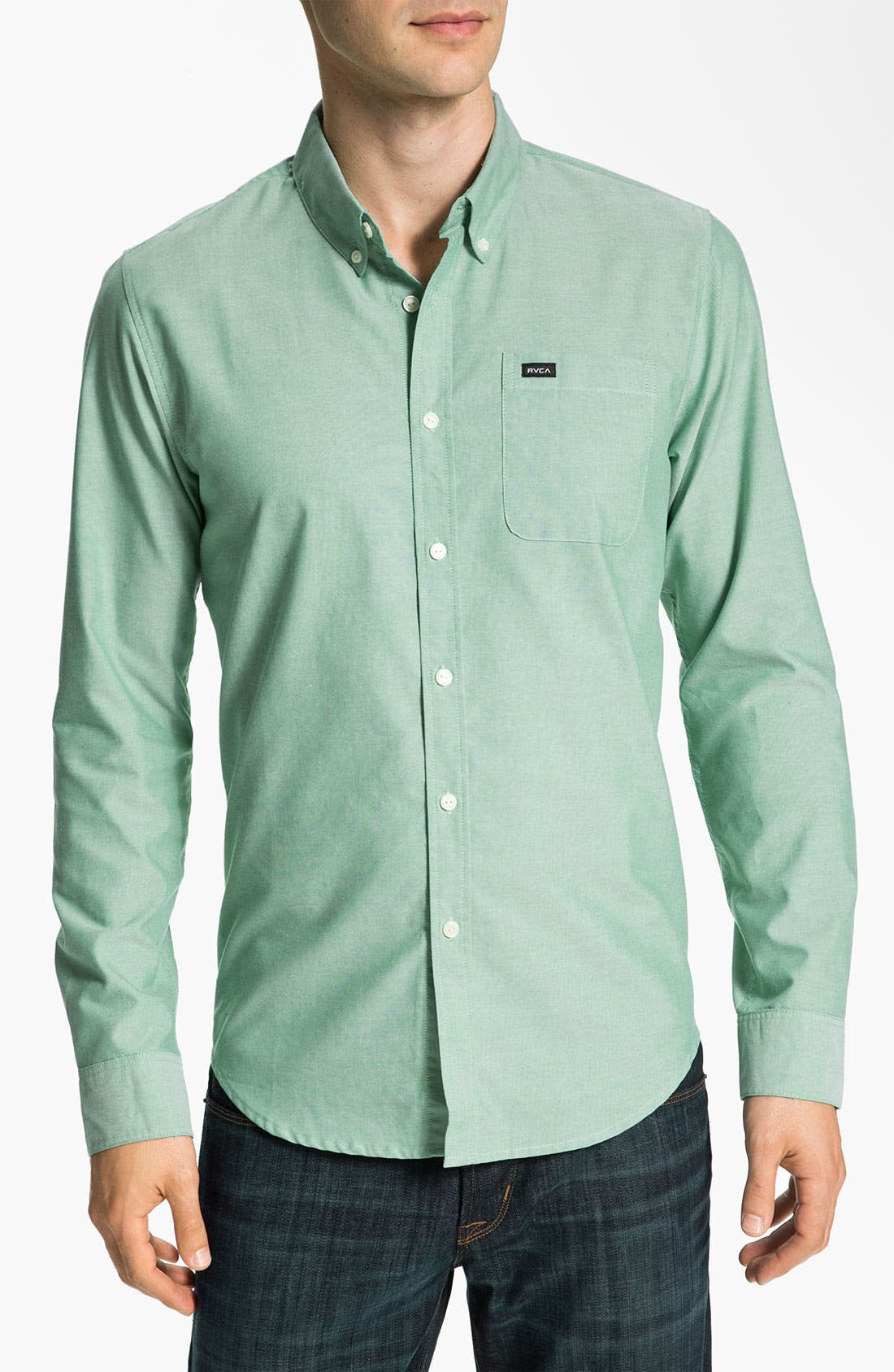 Alternate Image 1 Selected - RVCA 'That'll Do' Oxford Shirt