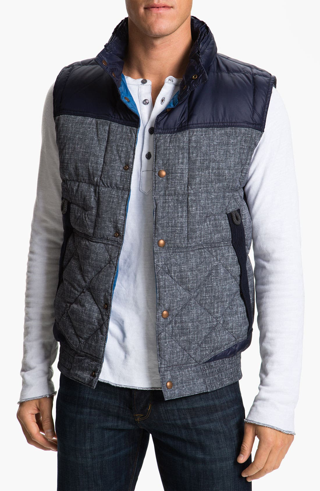 Alternate Image 1 Selected - BOSS Orange Quilted Vest