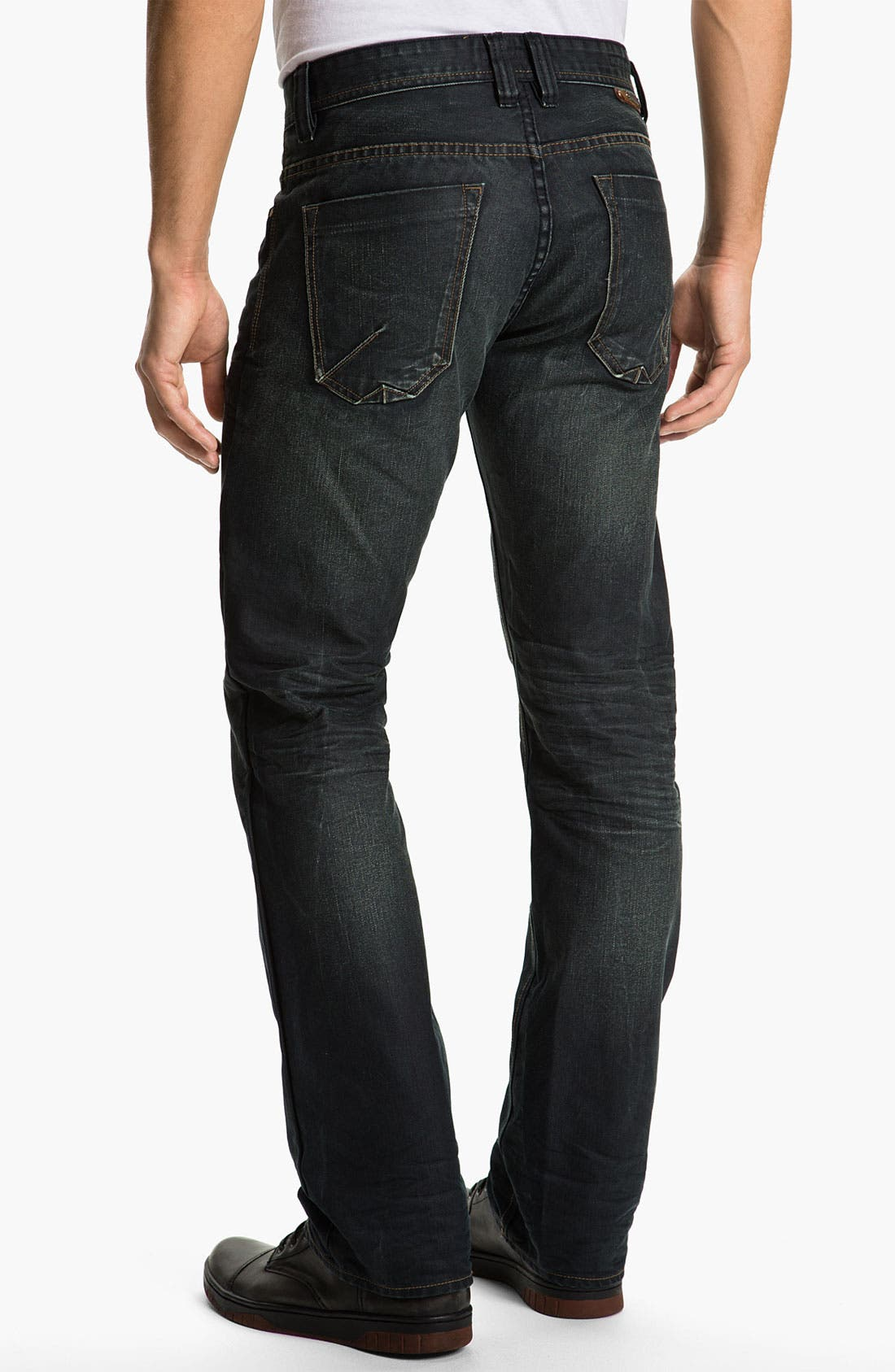 Alternate Image 1 Selected - Projek Raw Relaxed Straight Leg Jeans (Dark Blue)