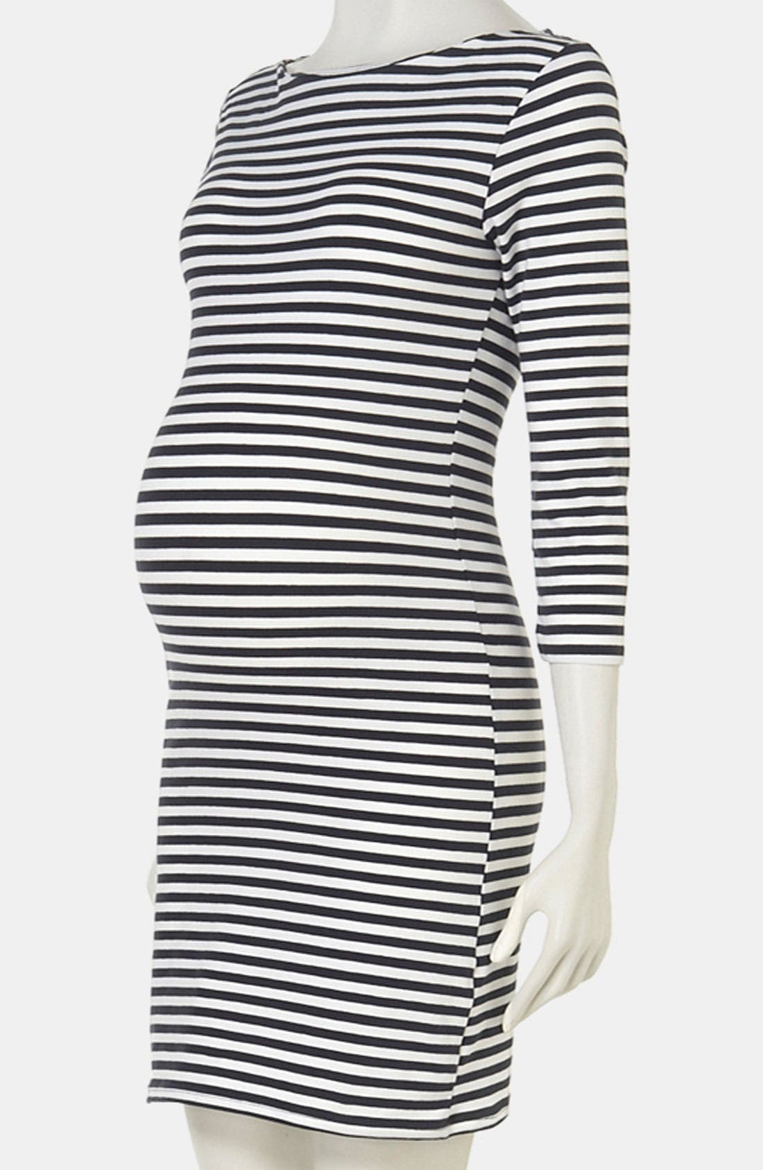 Alternate Image 1 Selected - Topshop Stripe Maternity Dress