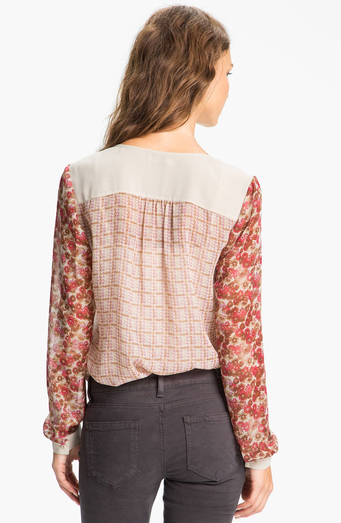 Alternate Image 2  - Hinge Mix Print Chiffon Blouse