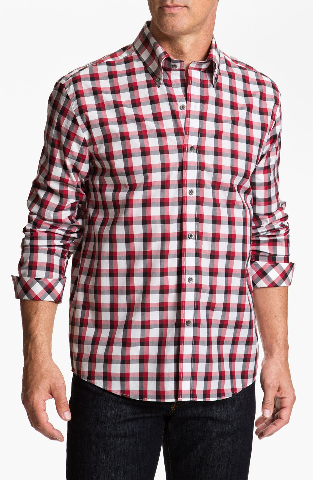 Alternate Image 1 Selected - Cutter & Buck 'Cinder Cone' Check Sport Shirt