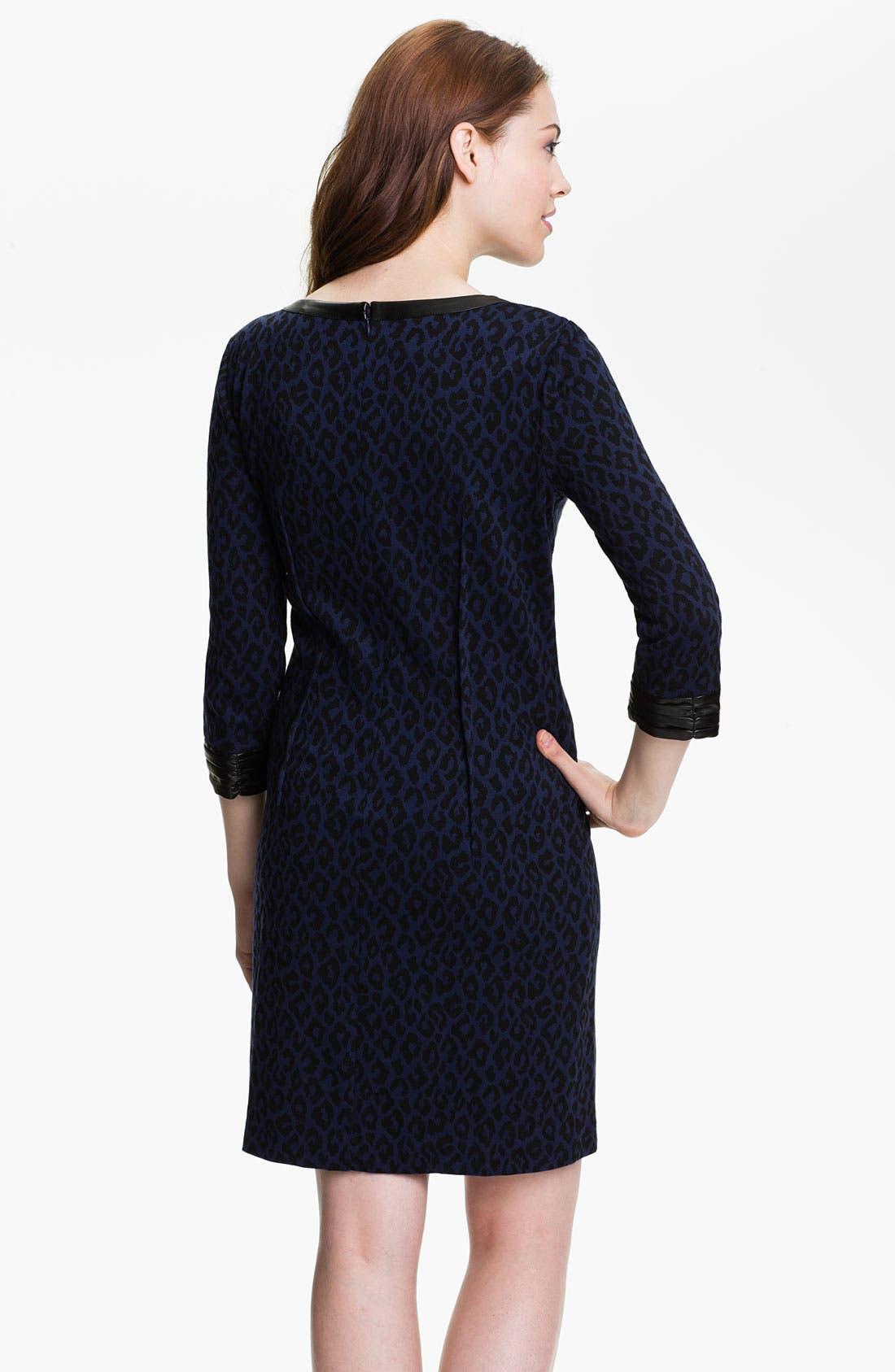 Alternate Image 2  - DKNYC Faux Leather Trim Dress