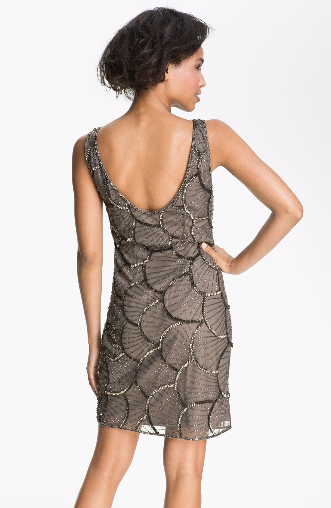 Alternate Image 2  - Pisarro Nights Scalloped Bead Mesh Dress
