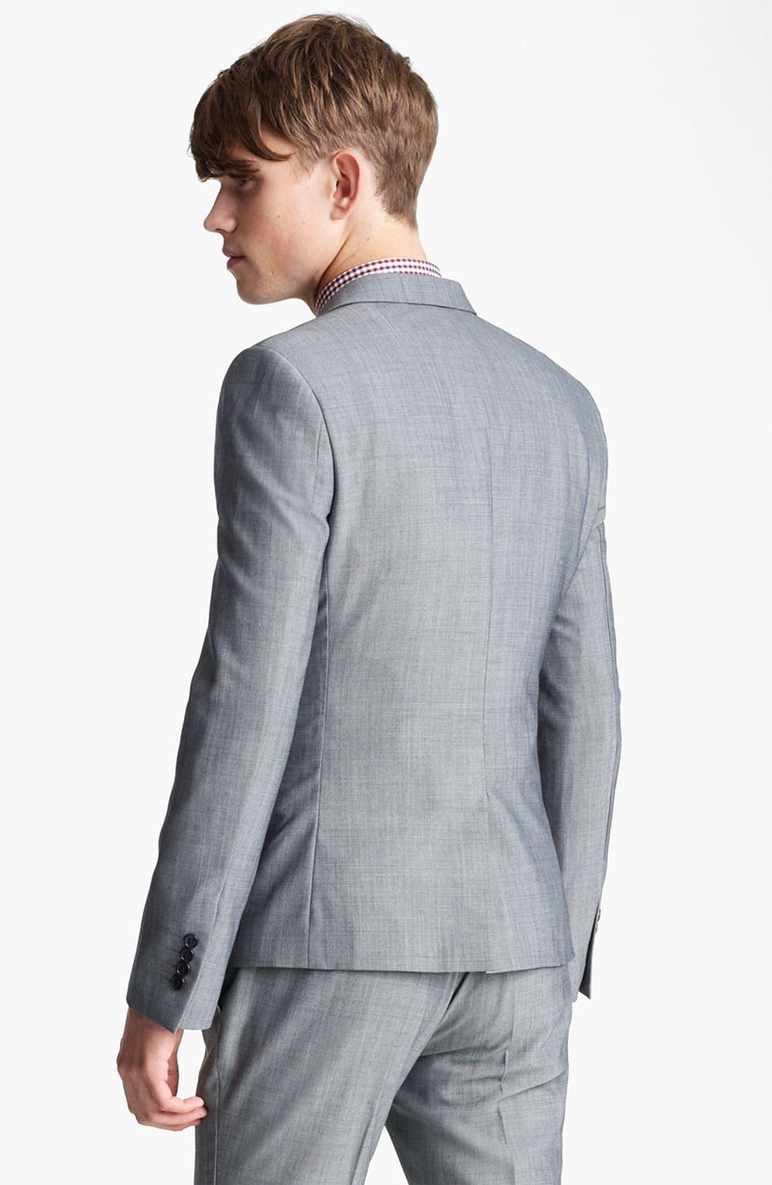 Alternate Image 2  - Topman Skinny Three Button Blazer