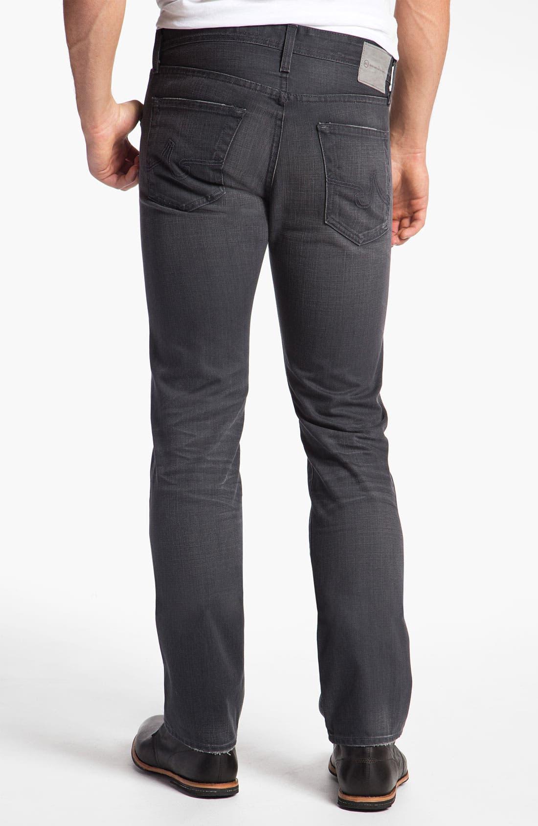 Alternate Image 2  - AG Jeans 'Matchbox' Slim Straight Leg Jeans (4 Year Grey)