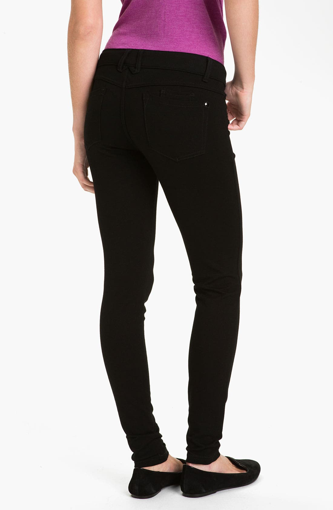 Alternate Image 2  - Jolt Ponte Knit Skinny Pants (Juniors)