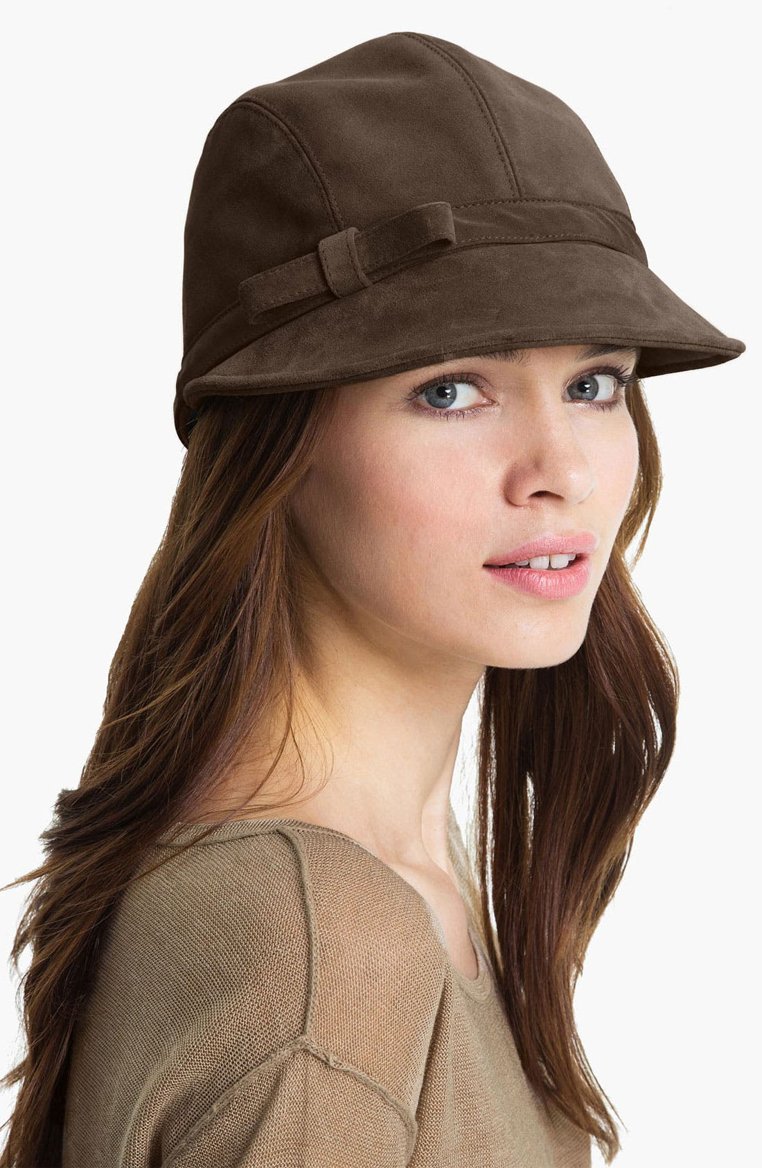 Alternate Image 1 Selected - Eric Javits Suede Cap