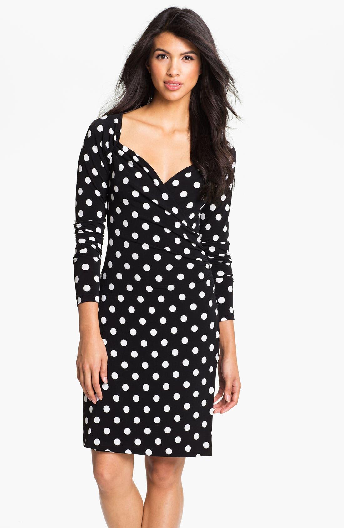 Alternate Image 1 Selected - KAMALIKULTURE Polka Dot Draped Dress