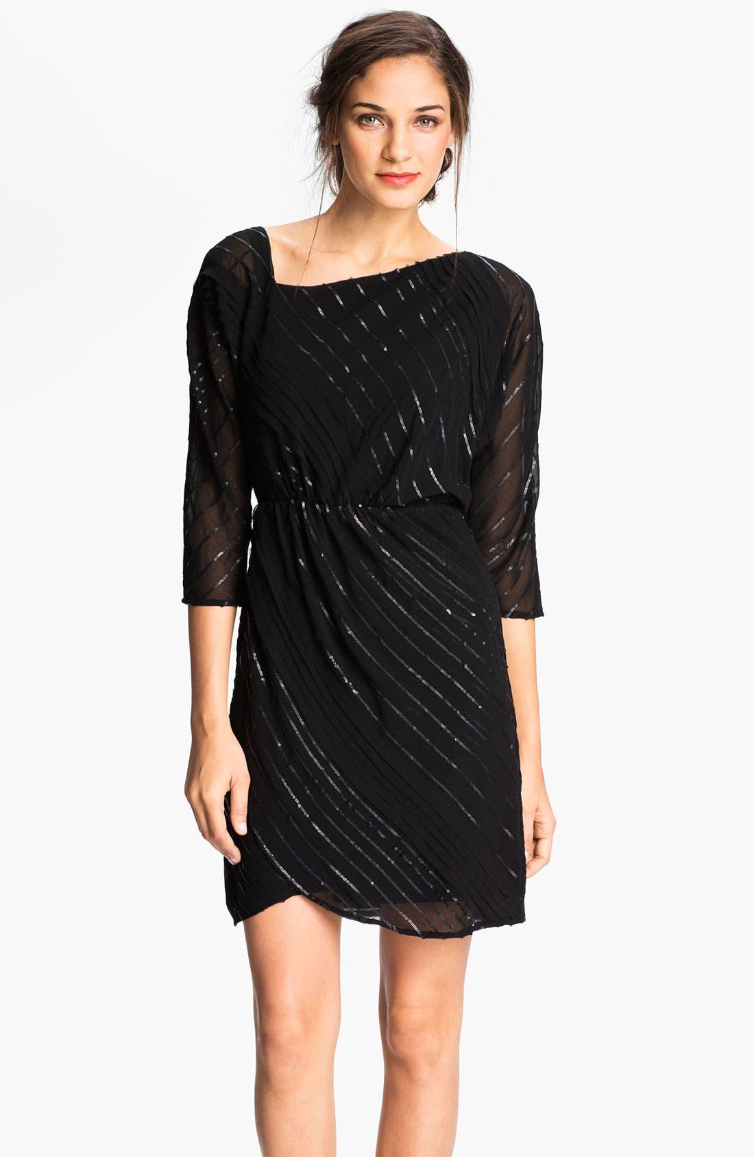 Alternate Image 1 Selected - Vince Camuto Sequin Stripe Chiffon Dress