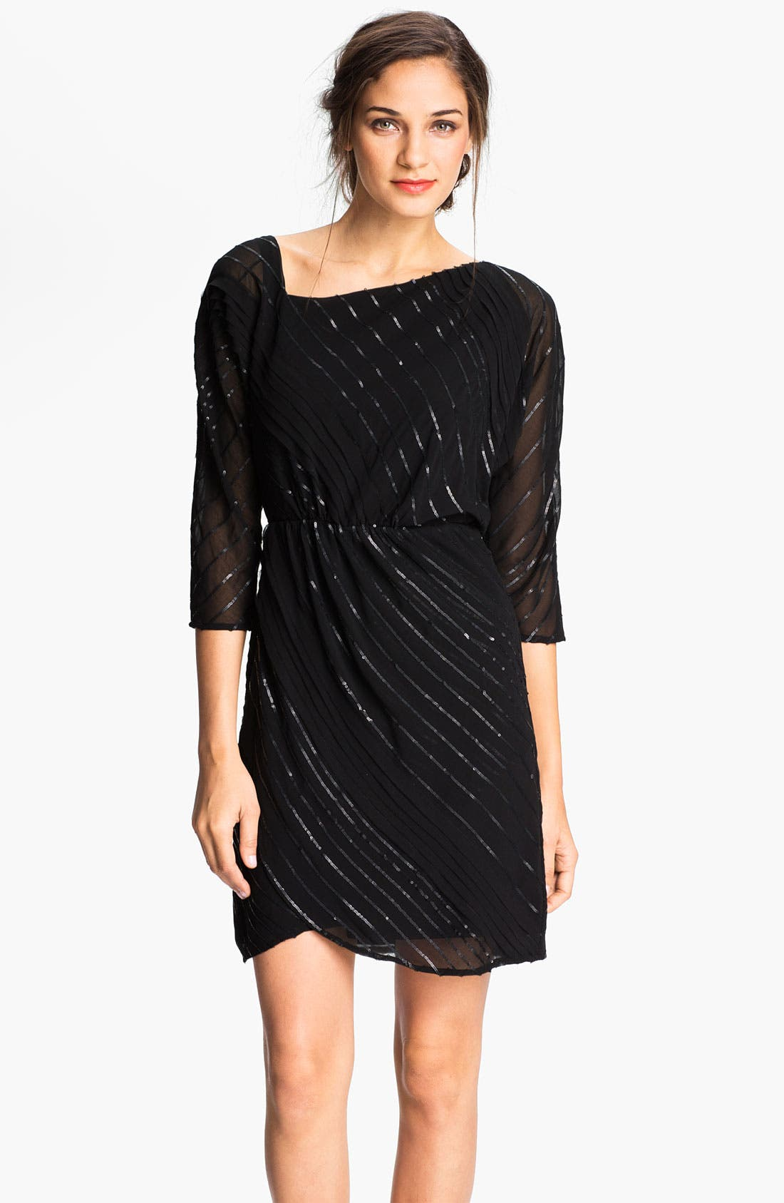 Main Image - Vince Camuto Sequin Stripe Chiffon Dress
