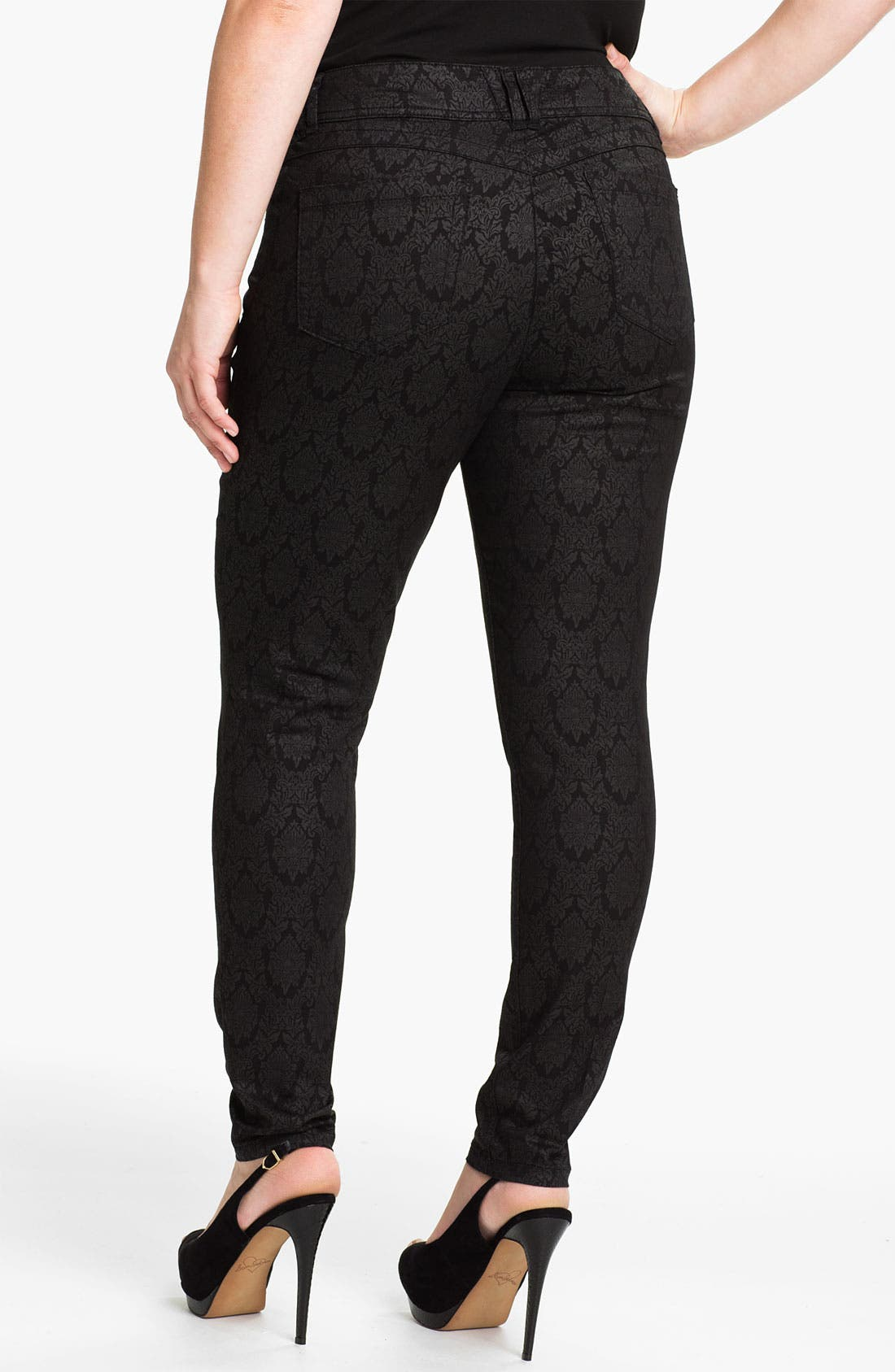Alternate Image 2  - Wit & Wisdom Brocade Denim Leggings (Plus) (Nordstrom Exclusive)